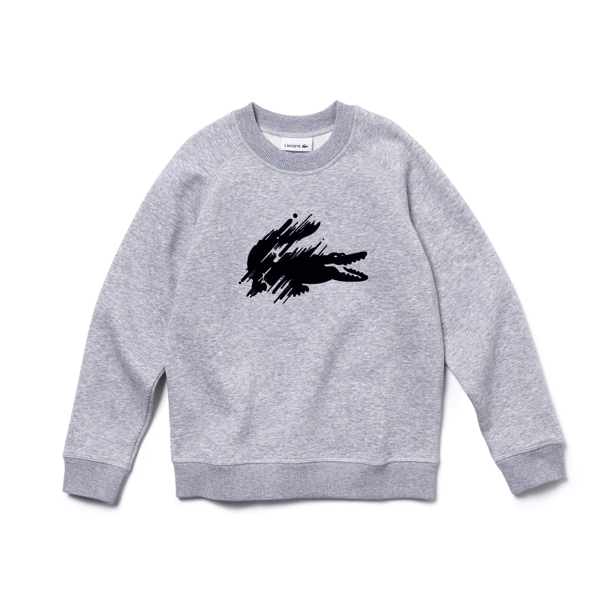 Boys' Flocked Crocodile Fleece Sweatshirt