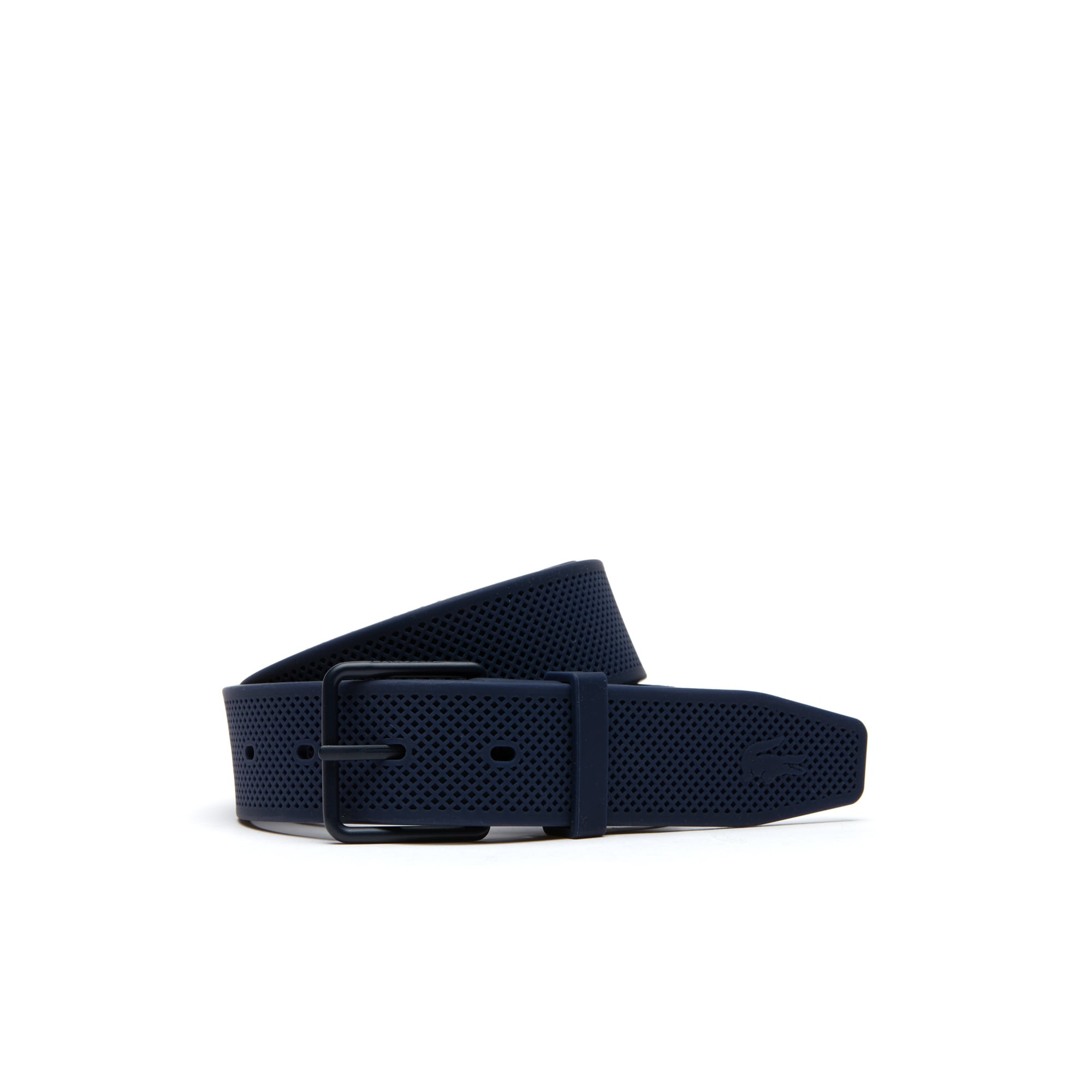 Men's Crisscross Silicon Belt With Lacoste Tongue Buckle