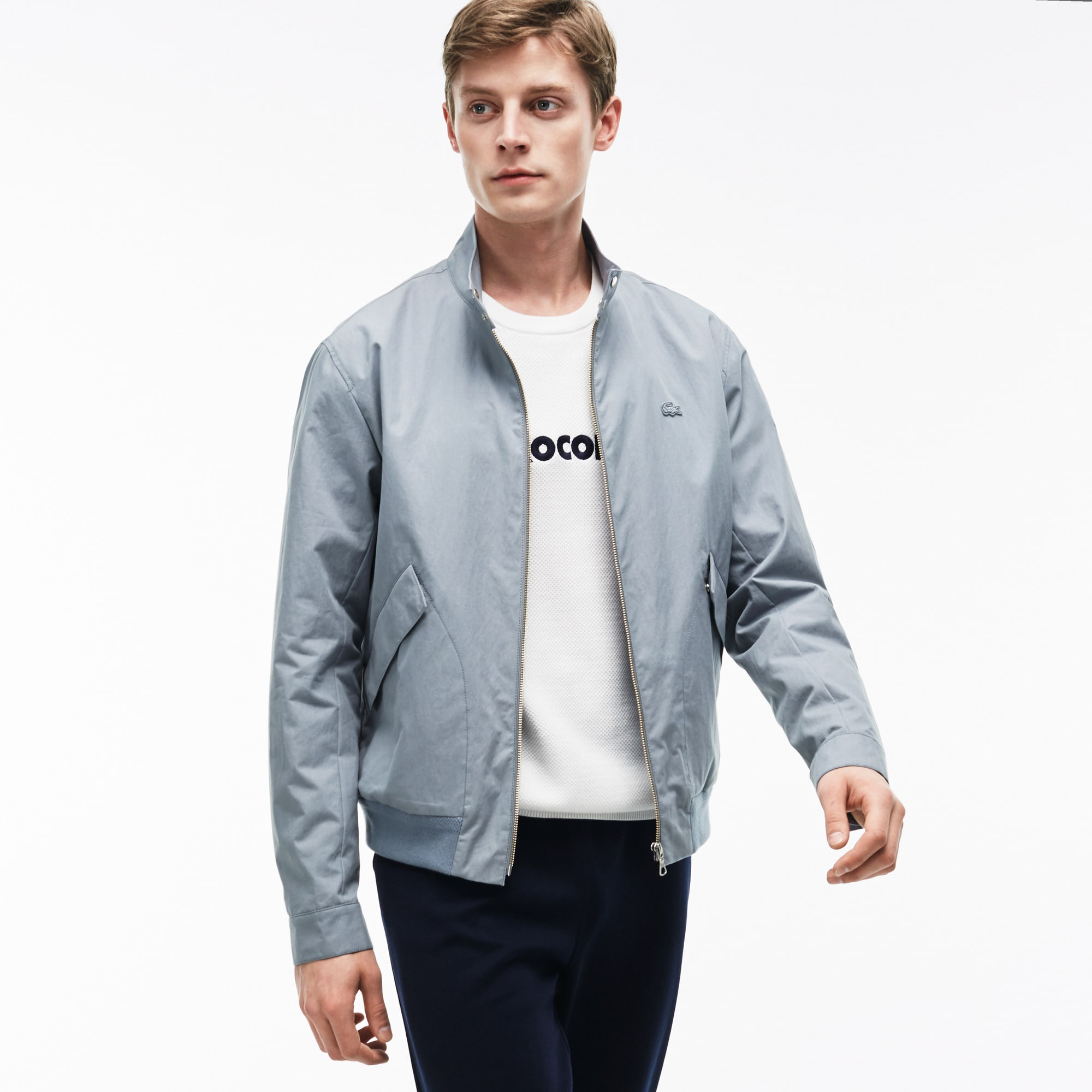 Men's Cotton Blend Gabardine Harrington Jacket