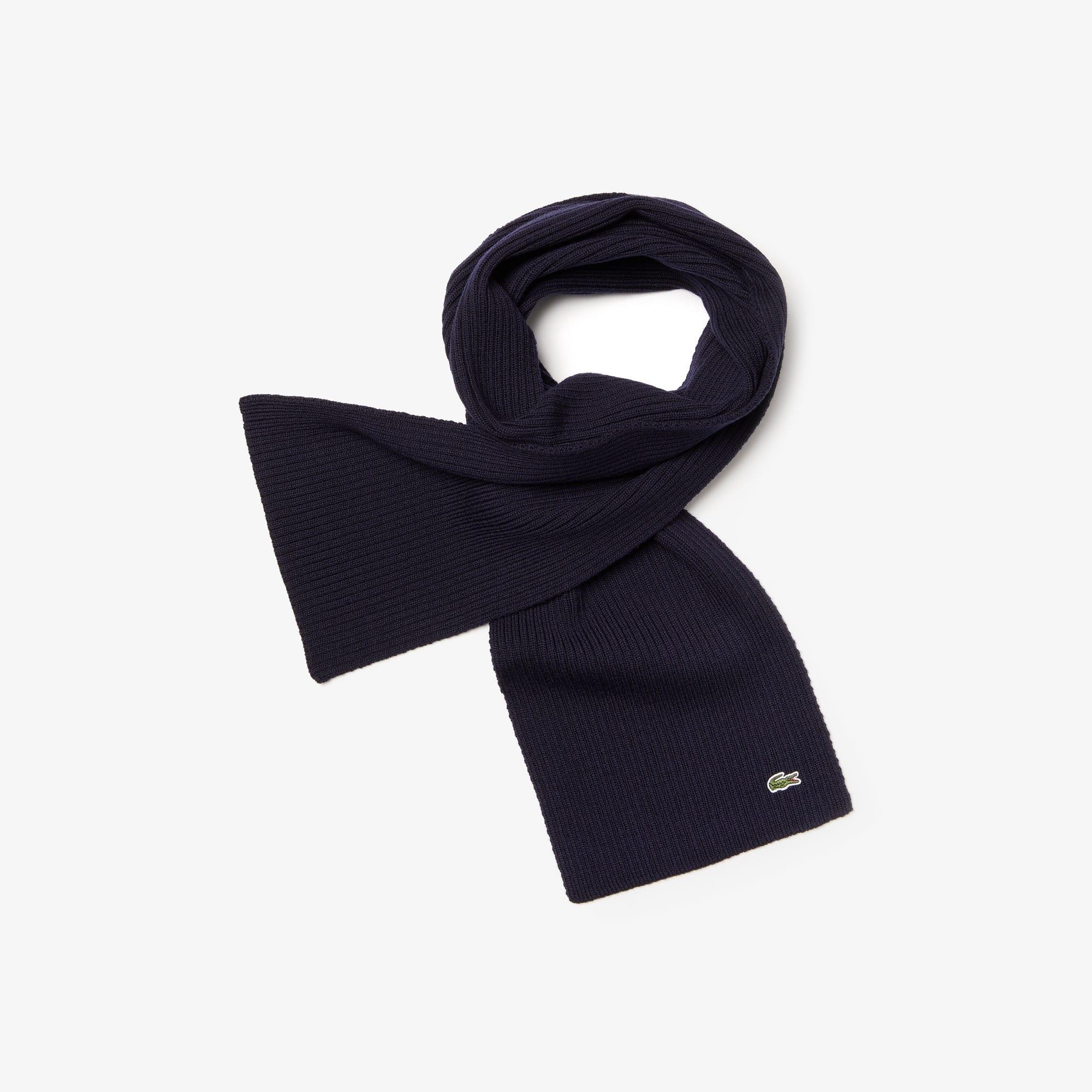 Men's Ribbed Wool Scarf
