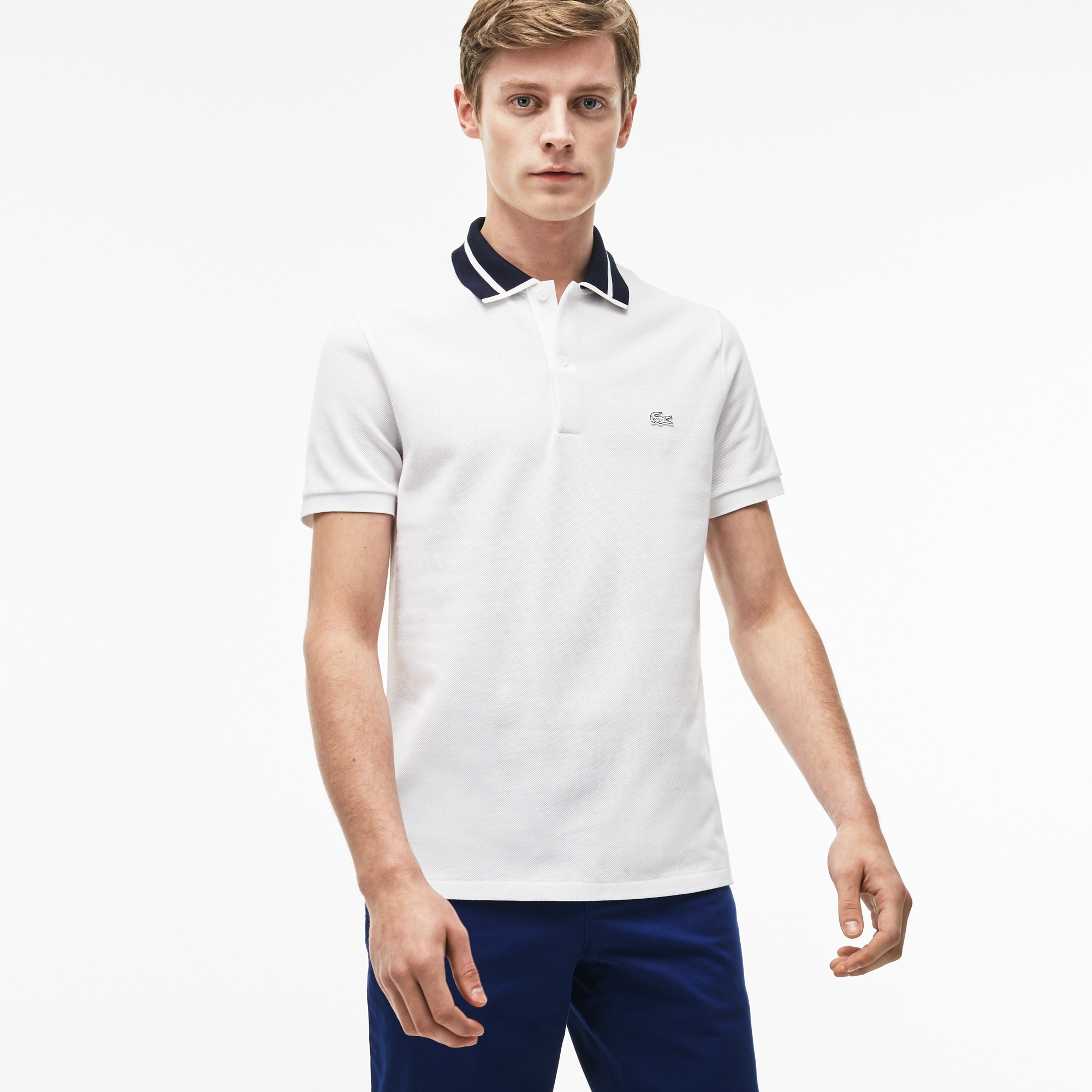 Men's Lacoste Slim Fit Piped Thick Cotton Piqué Polo