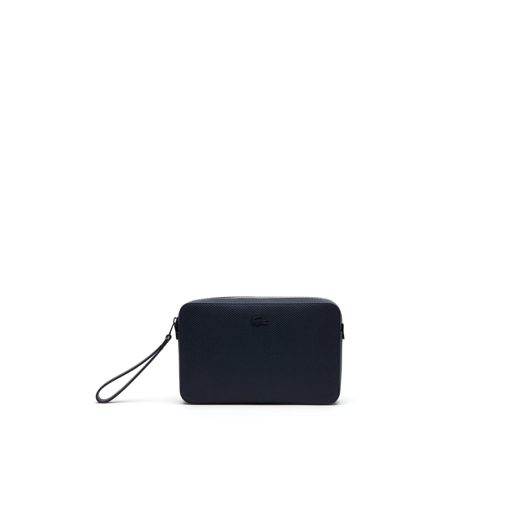 محفظة صغيرة رجّالية مع سحّاب من الجلد