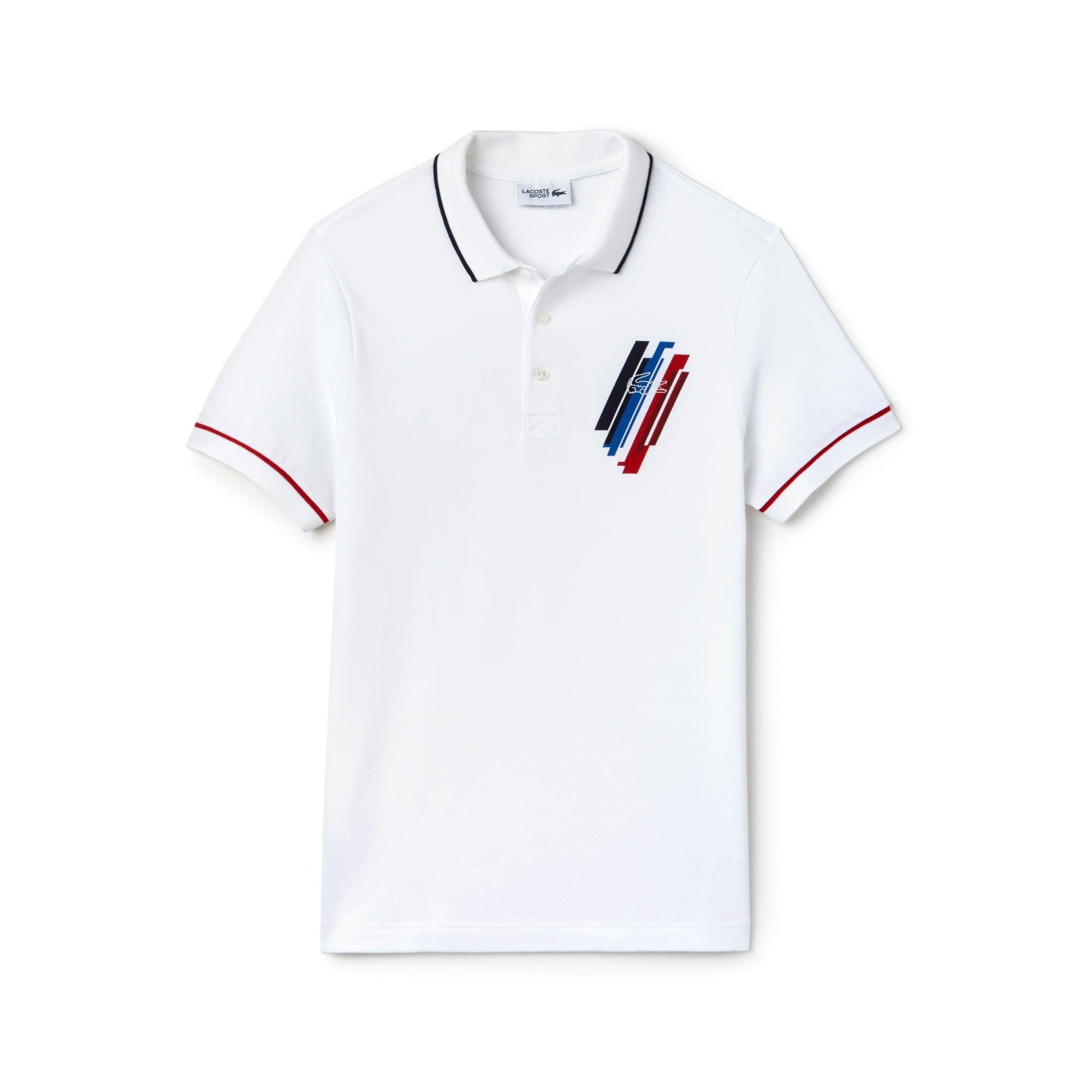 قميص بولو Lacoste رجالي بألوان متنوعة من مجموعة SPORT TRICOLOR