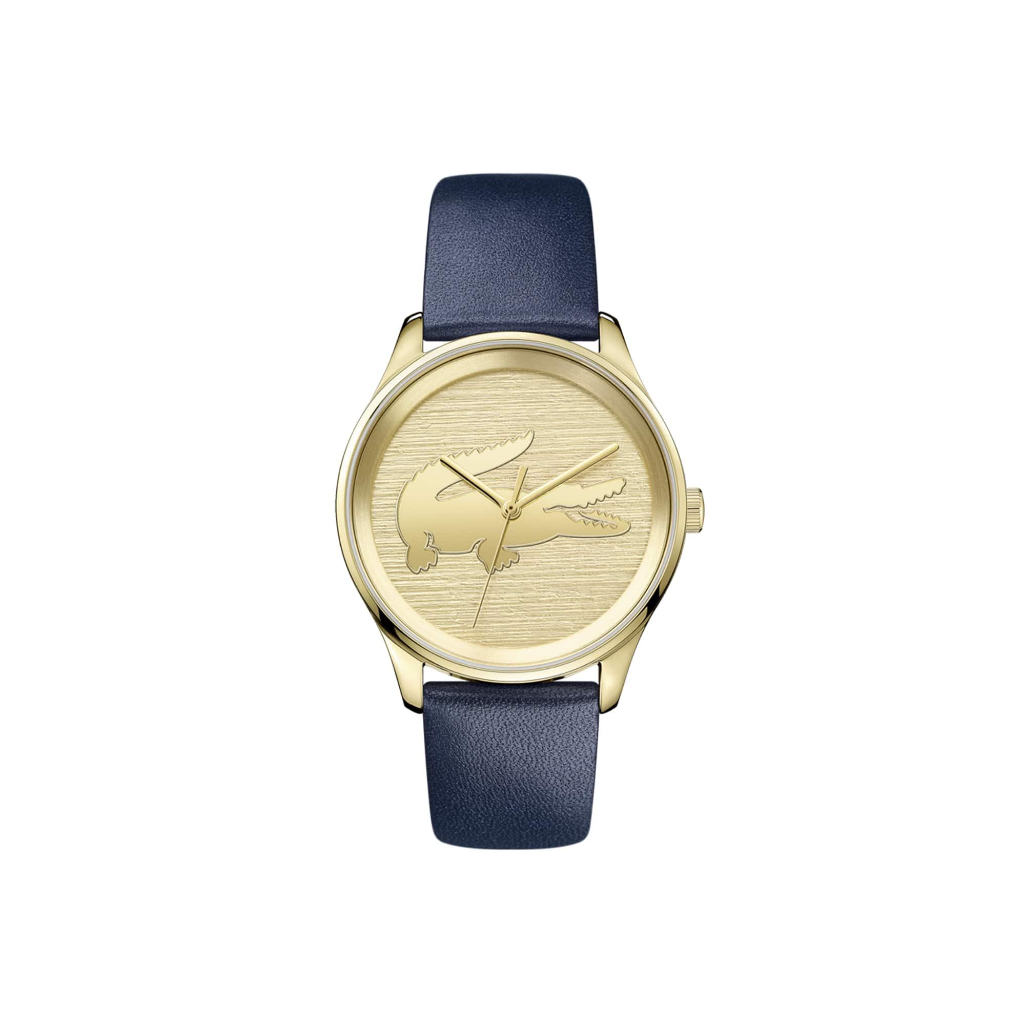 ساعة Valencia نسائية مع حزام أزرق من الجلد