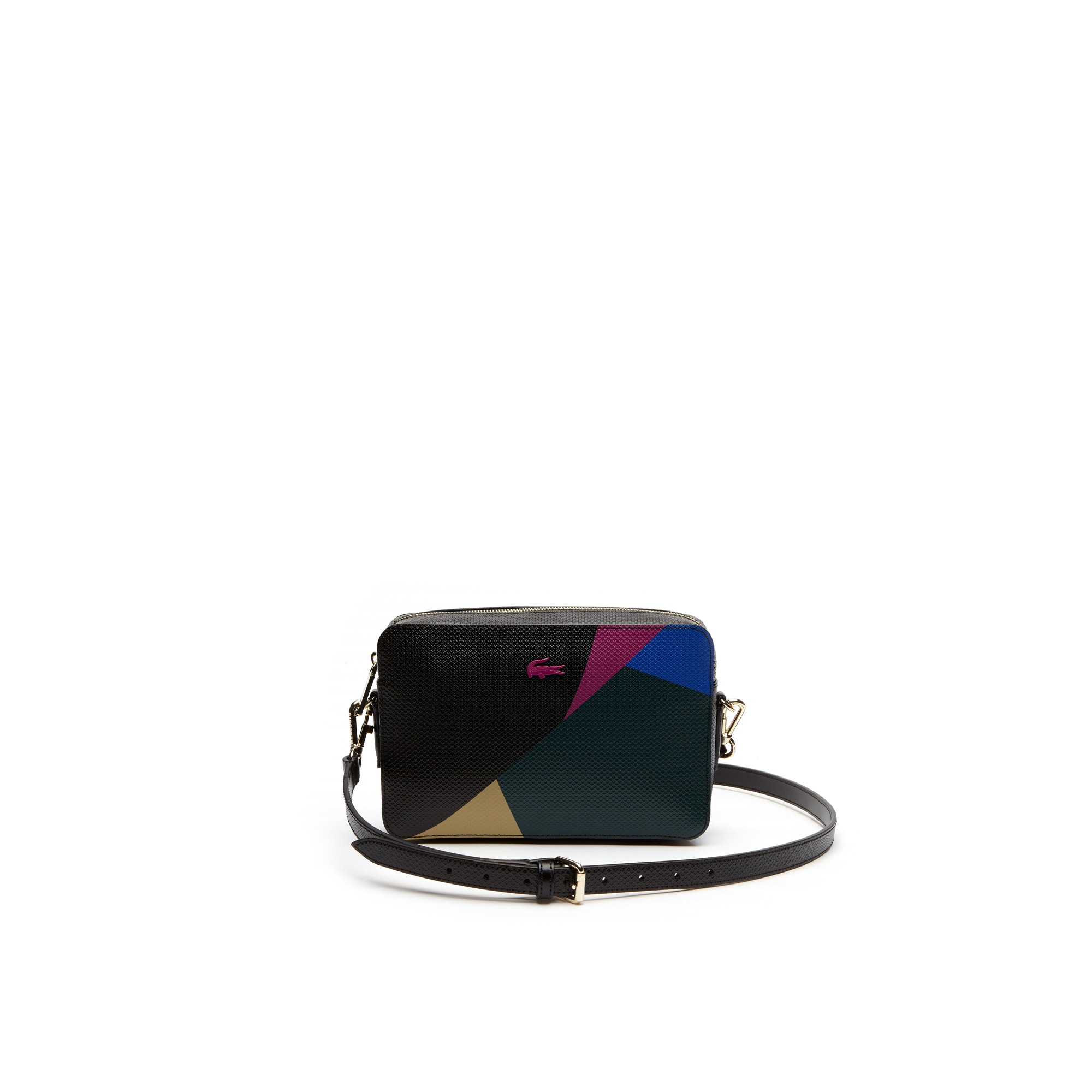 حقيبة كتف جلدية مربعة متعددة الألوان للنساء من مجموعة Chantco