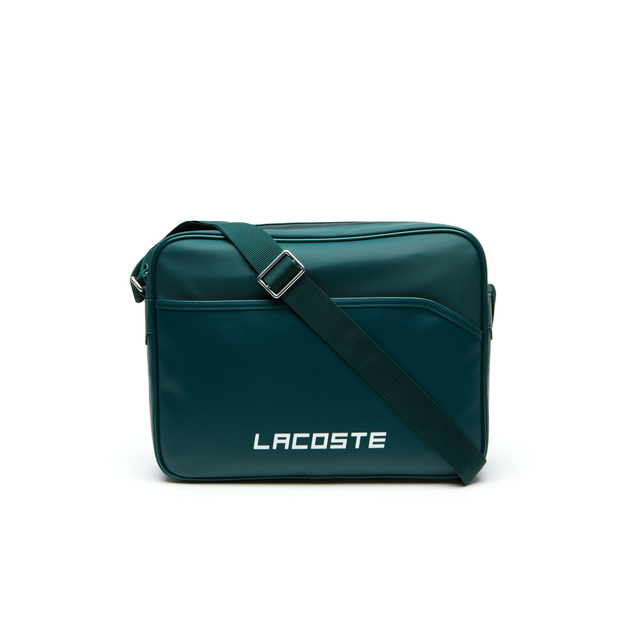 حقيبة أنيقة وصغيرة للسفر بأسلوب بوتيه بيكيه محفور عليها حروف العلامة التجارية Ultimum Lacoste للرجال