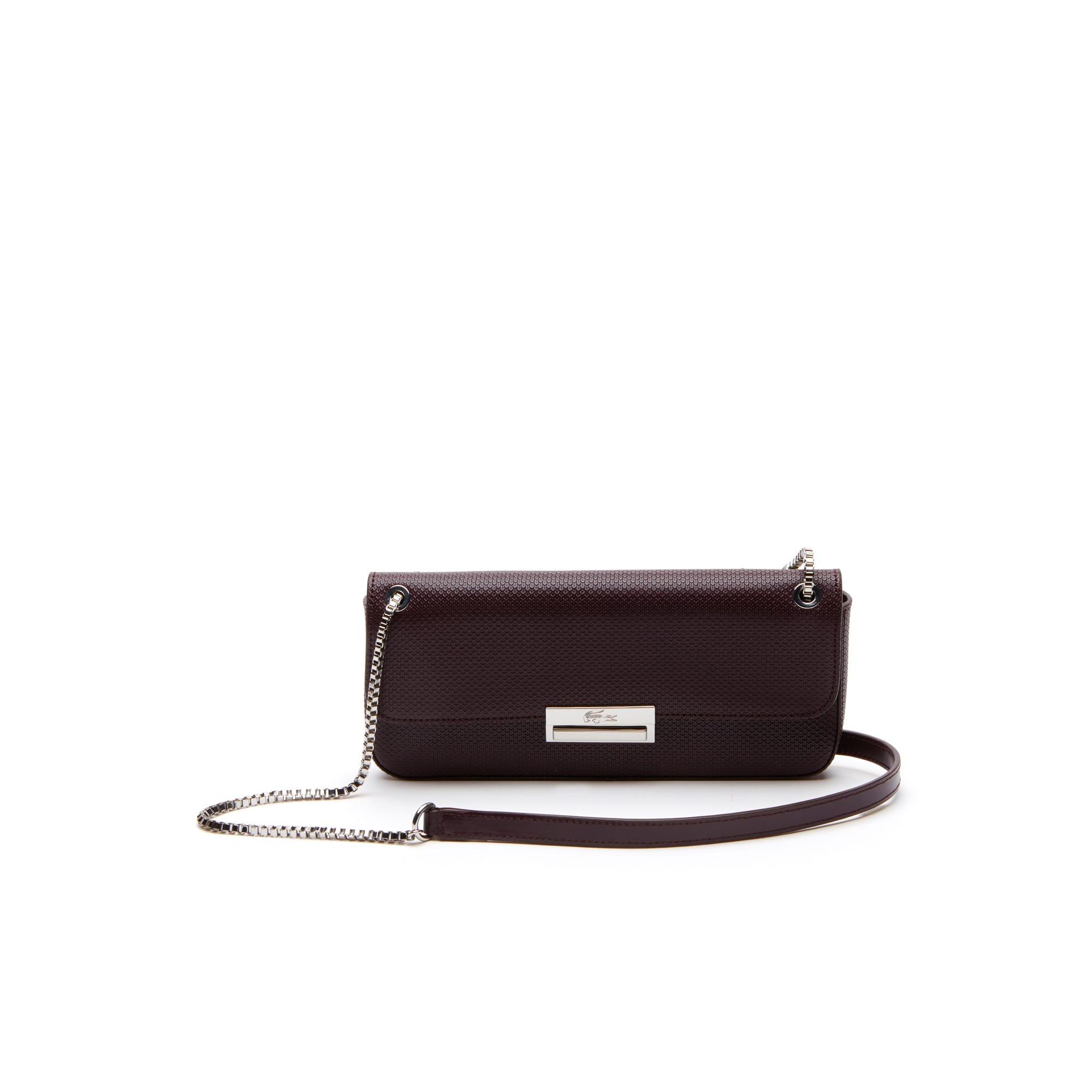 حقيبة بسحَّاب صغير مطبوع عليها شعار التمساح ومُصمَّمة بأسلوب بوتيه بيكيه من مجموعة L.12.12 Concept للسيدات