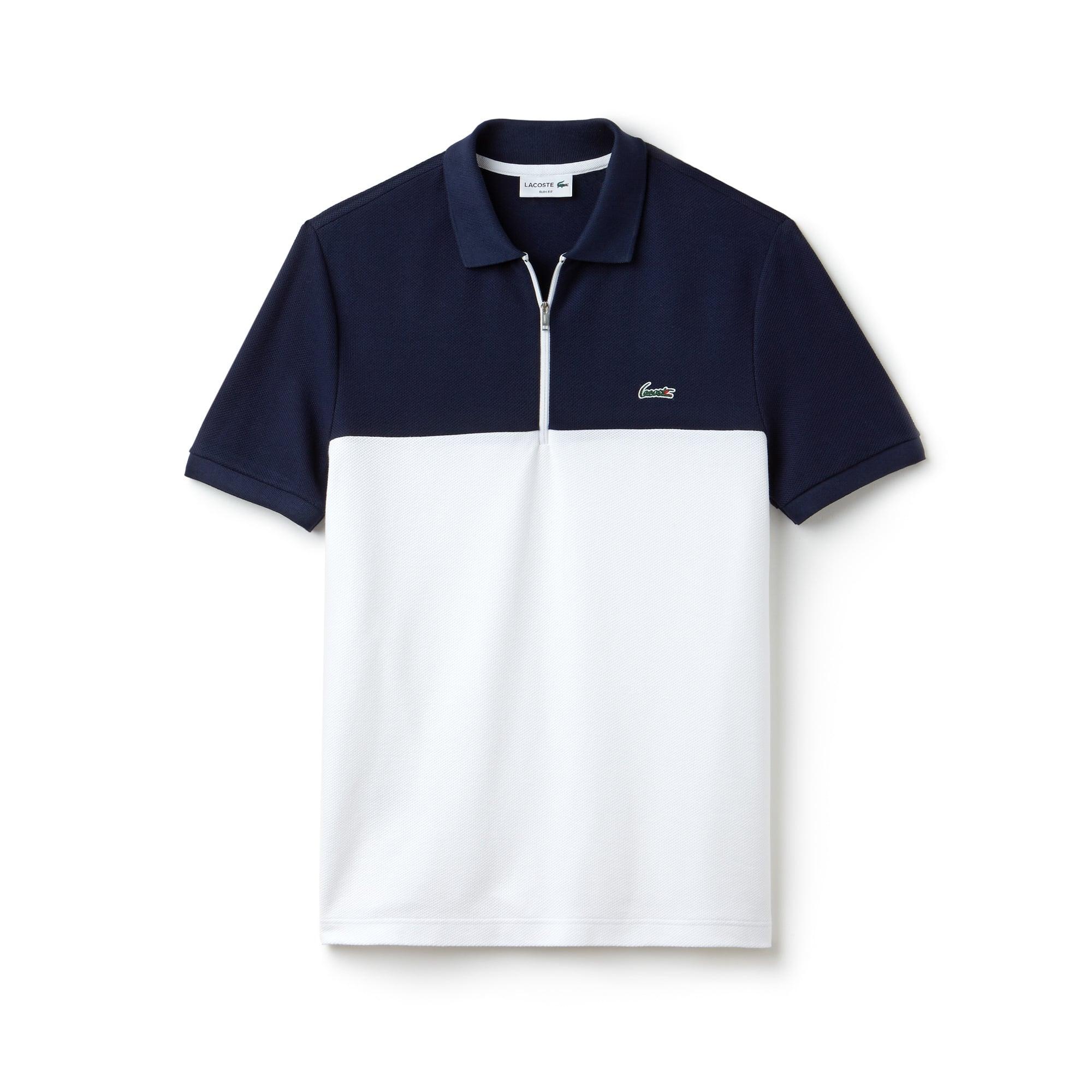 36f8e9f4b قميص بولو رجالي من لاكوست بمقاس ضيق وبألوان متصادمة وبخامة قطنية ...