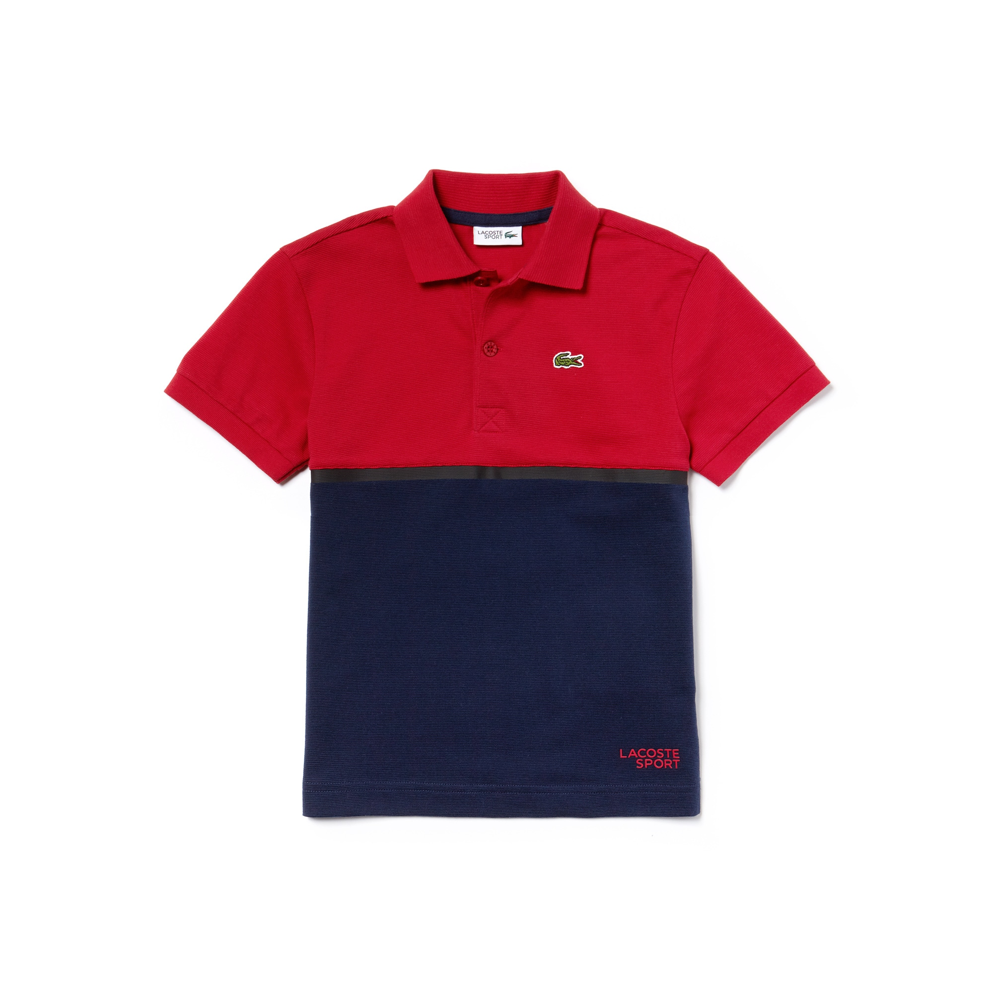قميص بولو Lacoste SPORT الرياضية للصبيان من القطن الخفيف وتصميم لكرة التنس وبعدة ألوان وياقة بولو