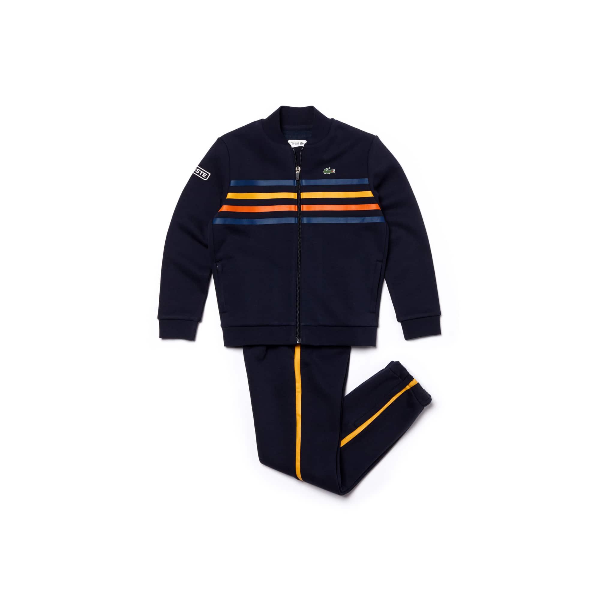 بدلة التنس الرياضية للأولاد من لاكوست سبورت مصنوعة من الصوف