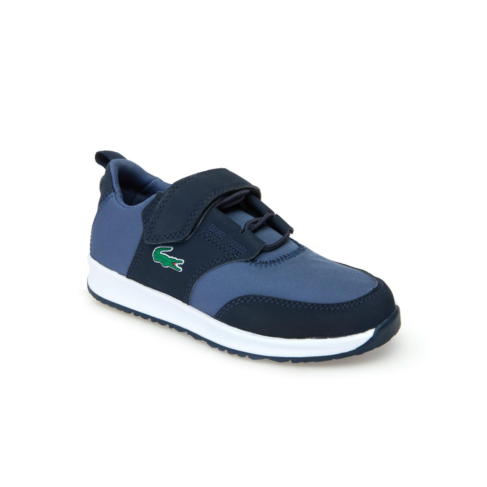 حذاء L.ight من القماش والجلد المعالج للأطفال