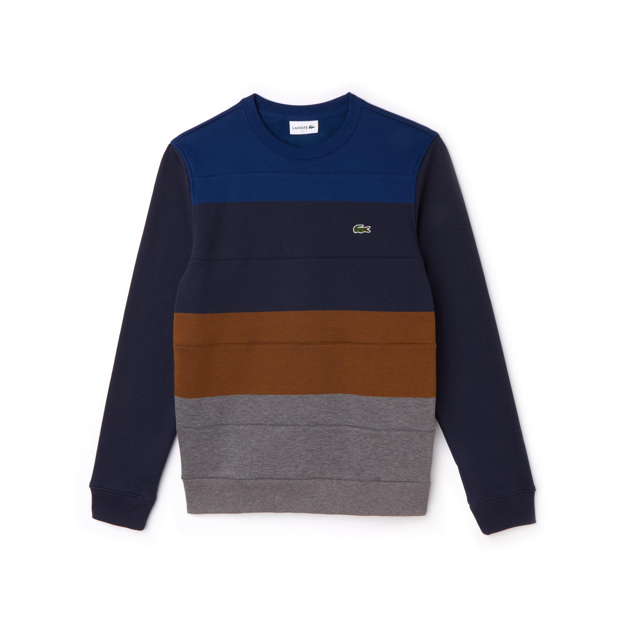 Men's Crew Neck Colorblock Fleece Sweatshirt