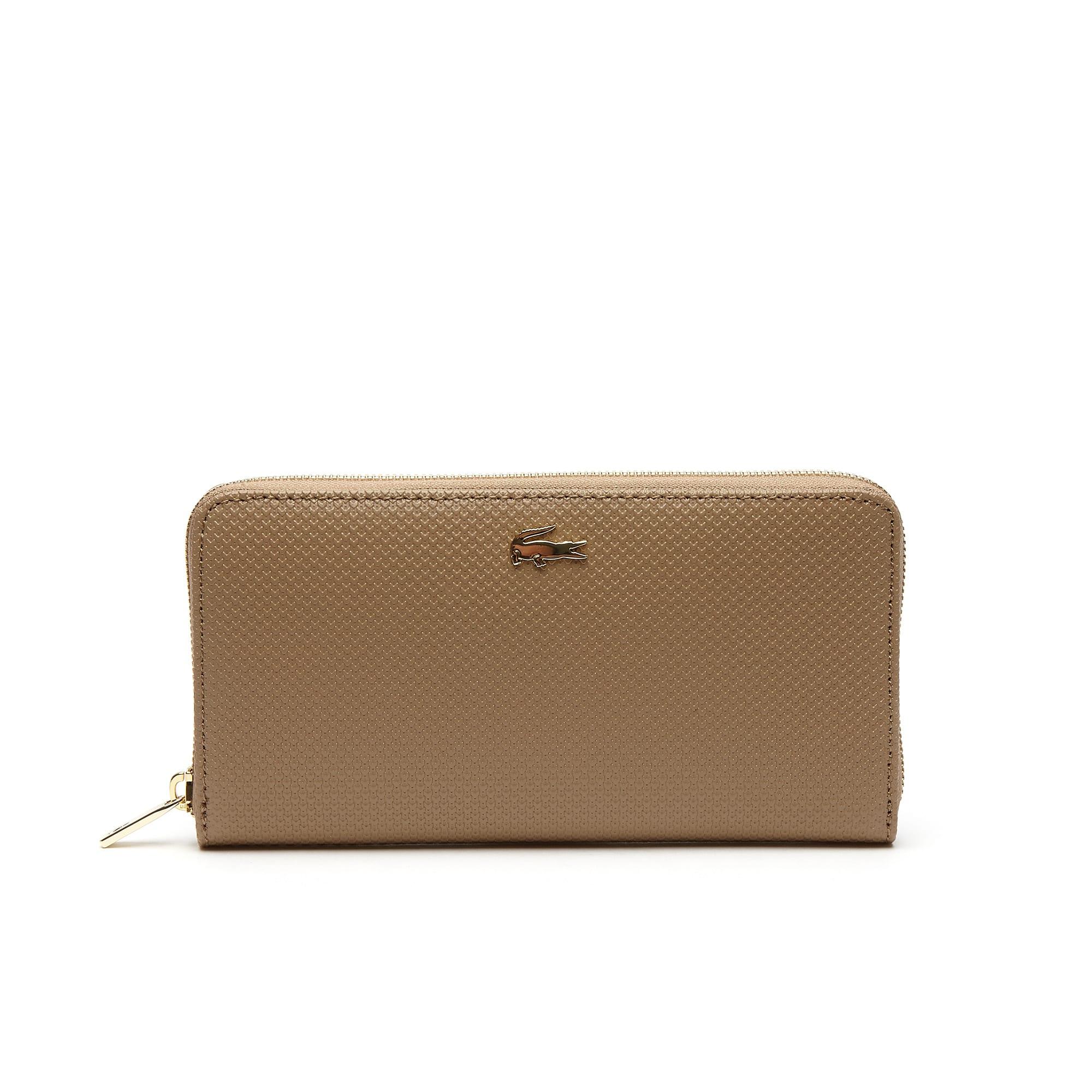 محفظة  نسائية مع سحّاب من جلد بيكيه