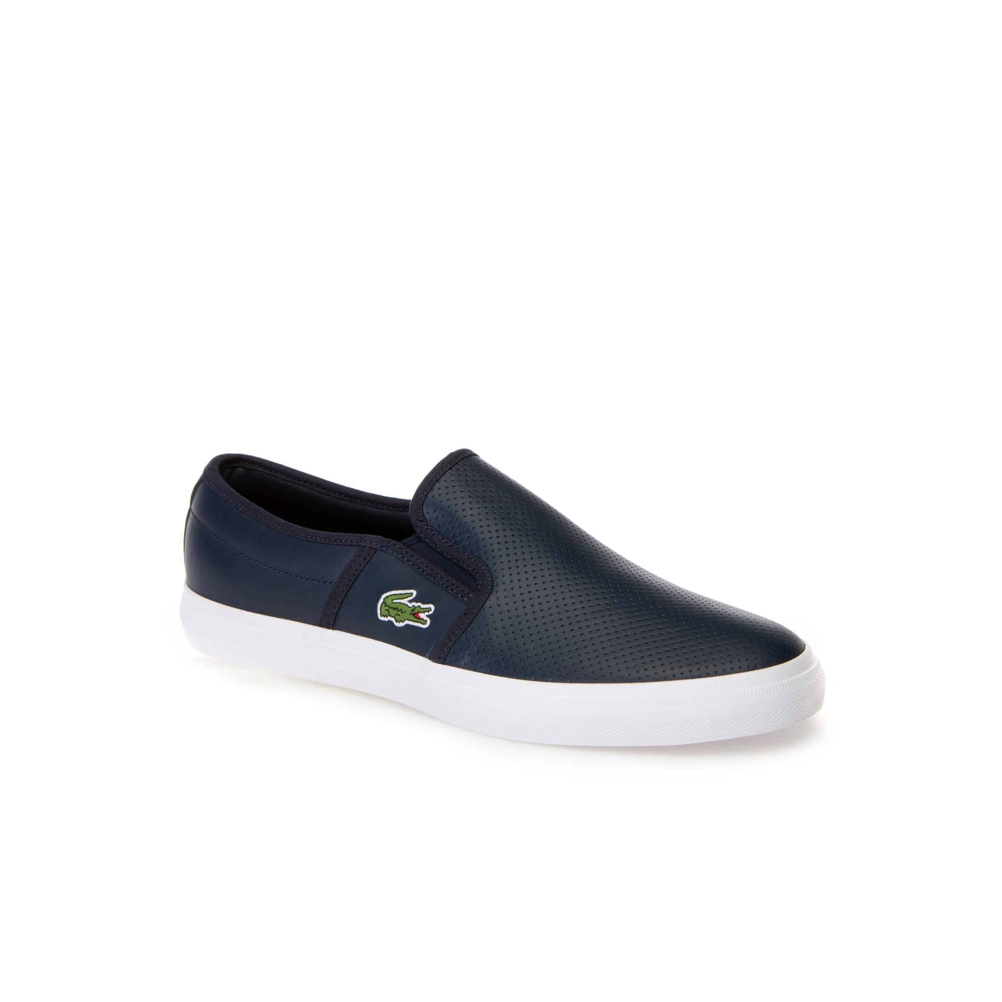 أحذية خفيفة سهلة الارتداء تمتاز بلمسات عصرية ومصنوعة من جلد نابا الناعم وأحادي اللون المثقوب تصميم مريح مختلط بنعل مطاطي مُعالج