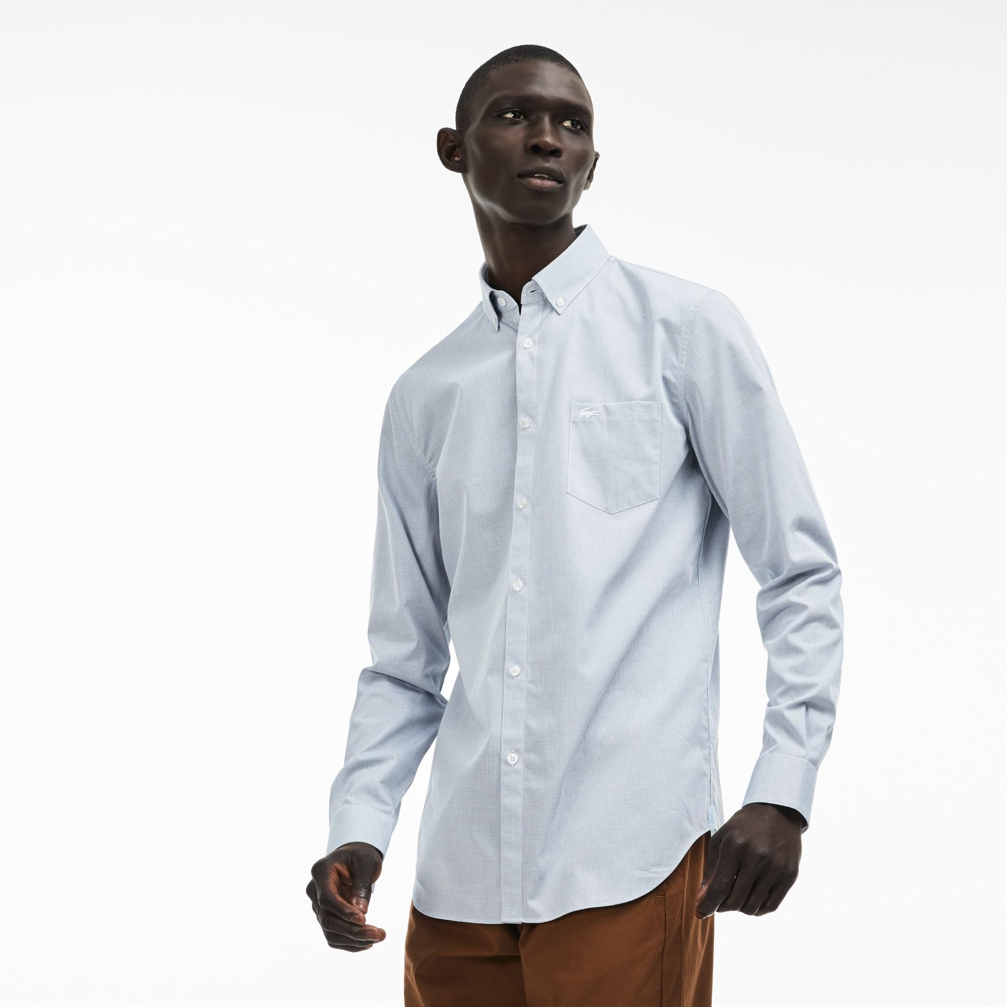 قميص رجالي بقصّة عاديّة من بوبلين