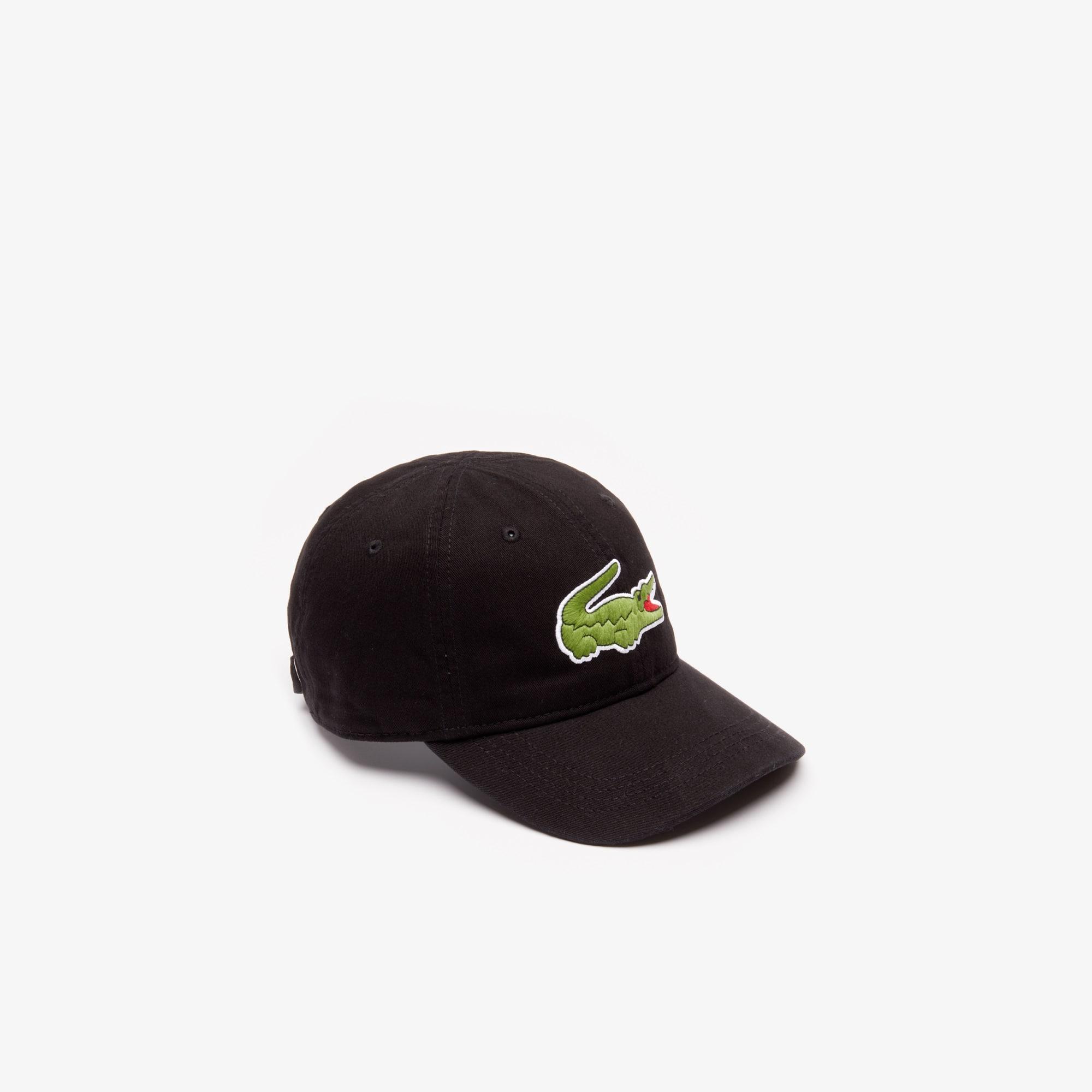 قبعة مصنوعة من الجبردين، مزدانة بعلامة التمساح كبيرة الحجم للرجال