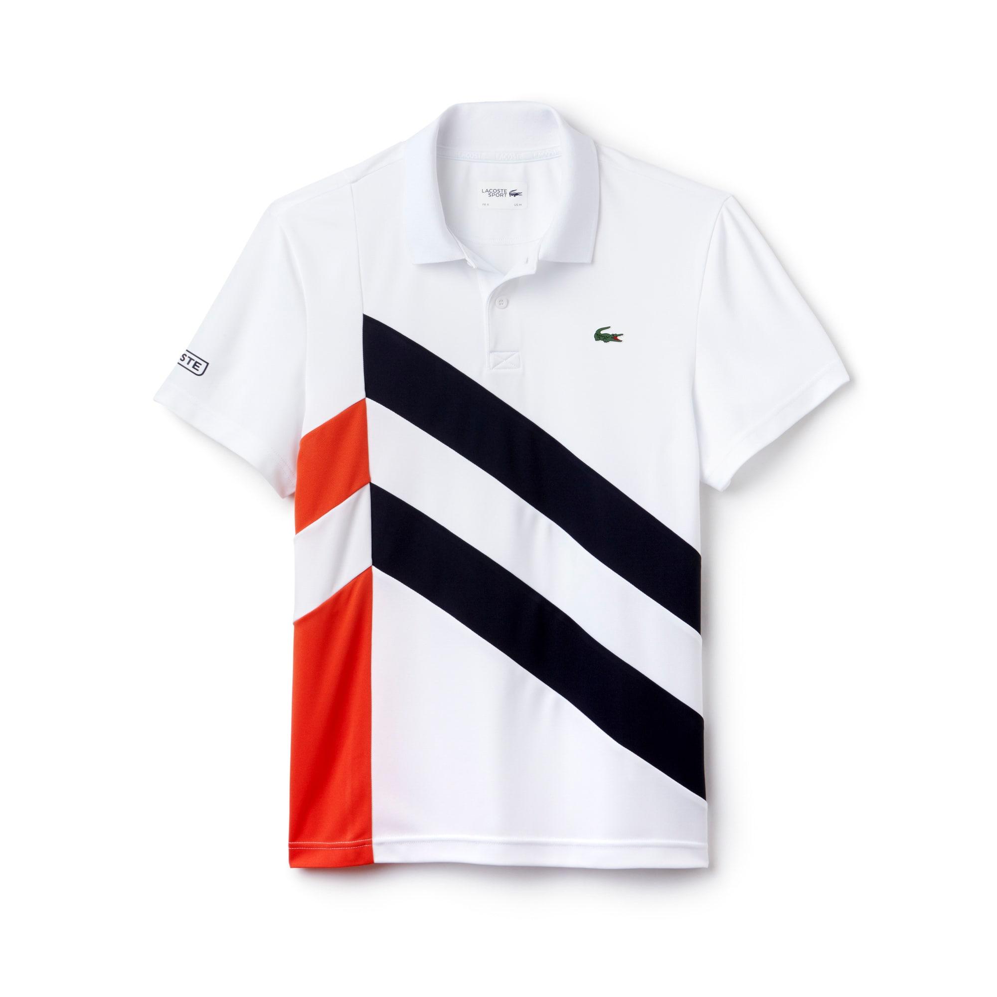 قميص تنس بولو من قماش البيكيه العملي رياضي بألوان متعددة