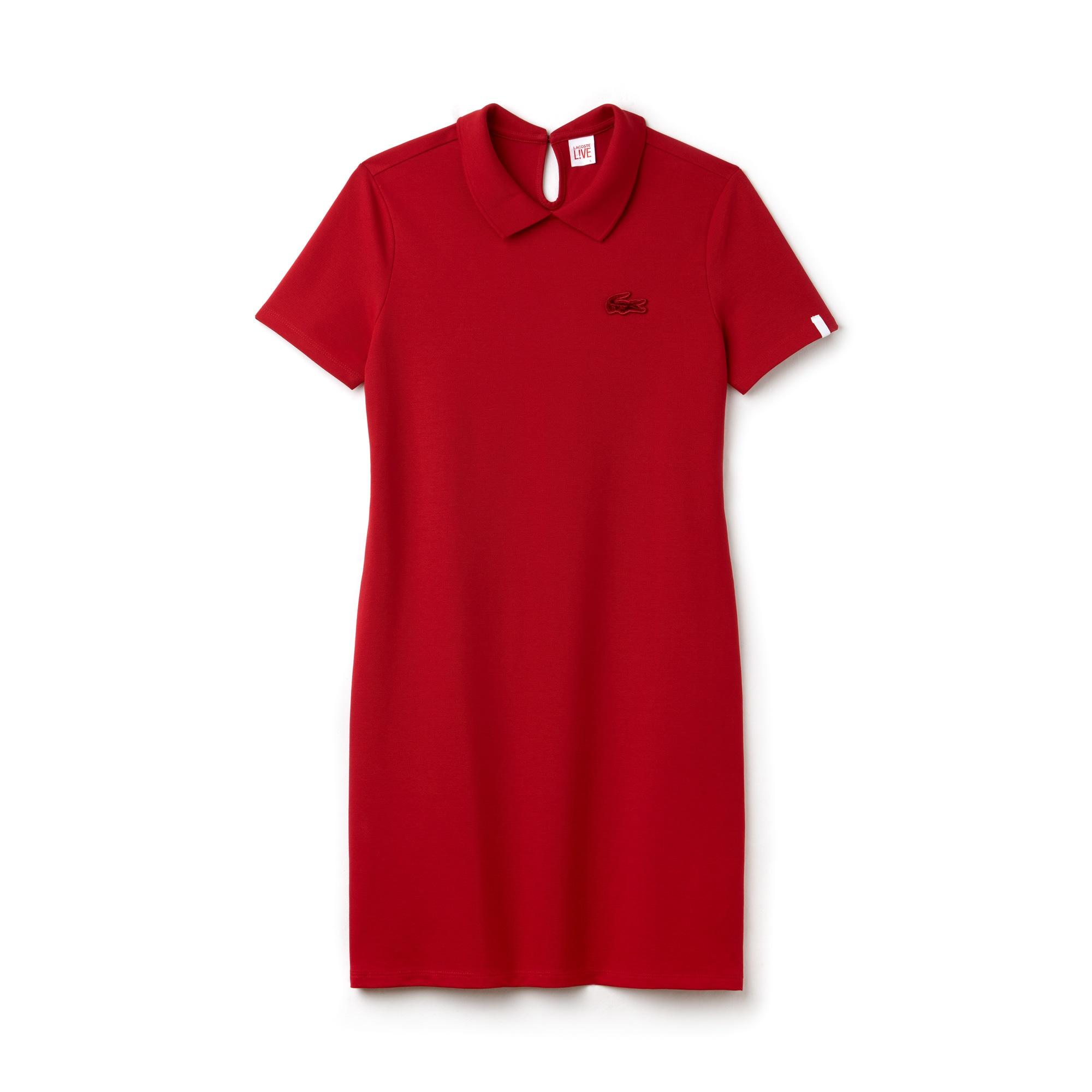 فستان بولو نسائي مع فتحة من الخلف من ميني بيكيه مطّاطي