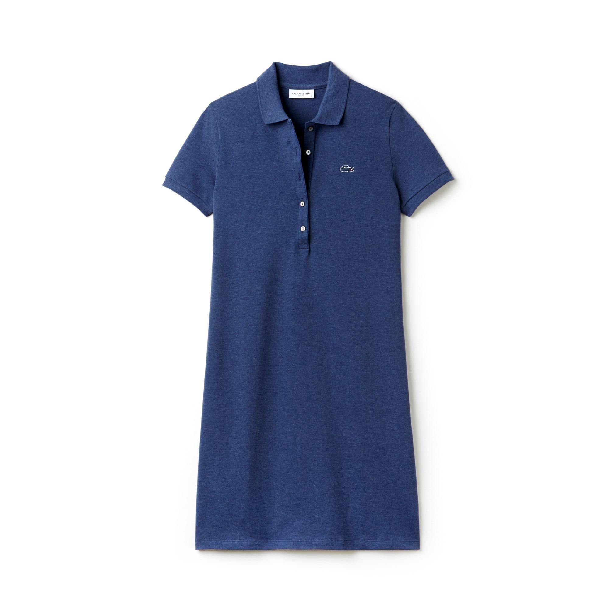 فستان بولو نسائي من ميني بيكيه قطنيّ مطّاطي