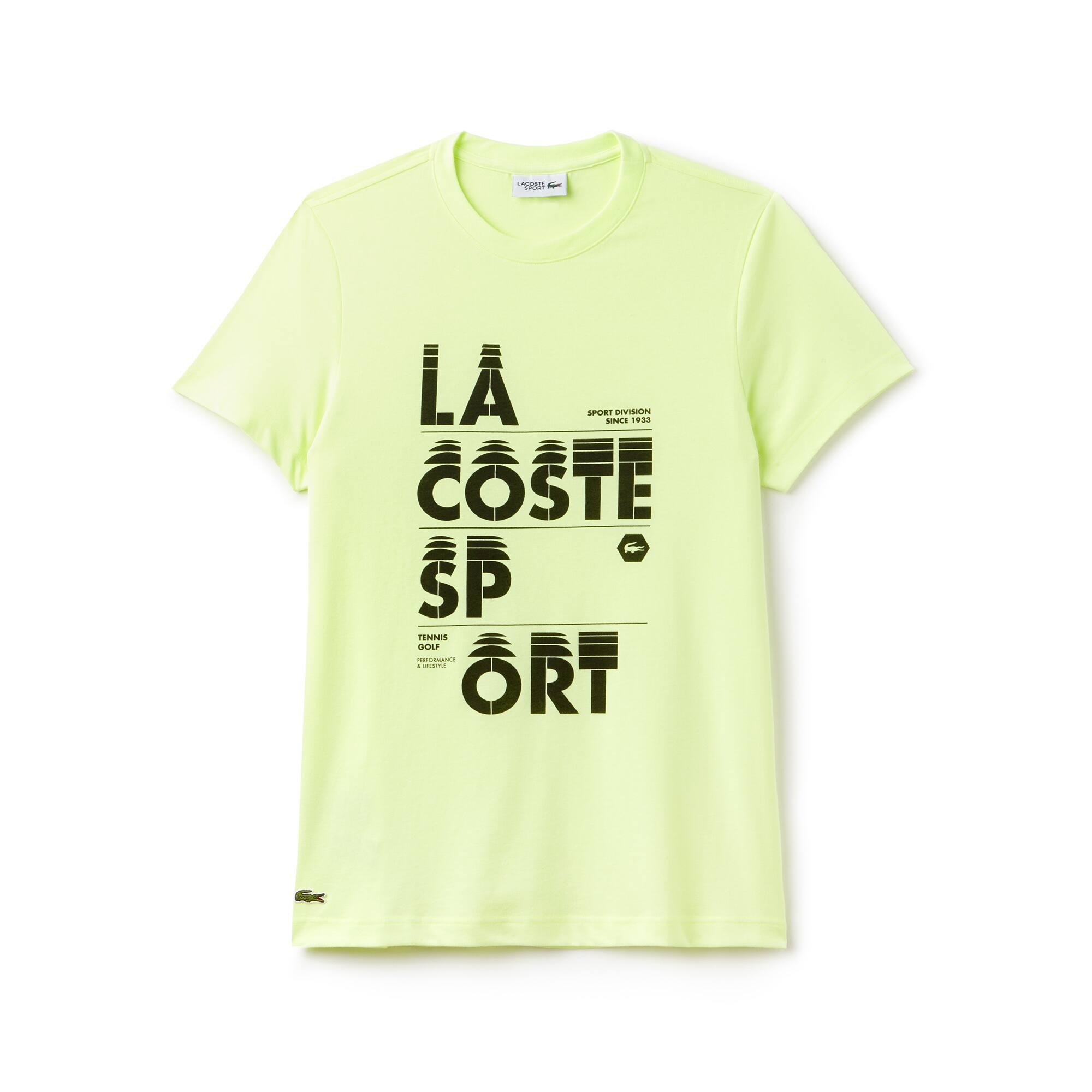 تيشيرت التنس الرجالي يحمل حروف Lacoste SPORT وبخامة جيرسي
