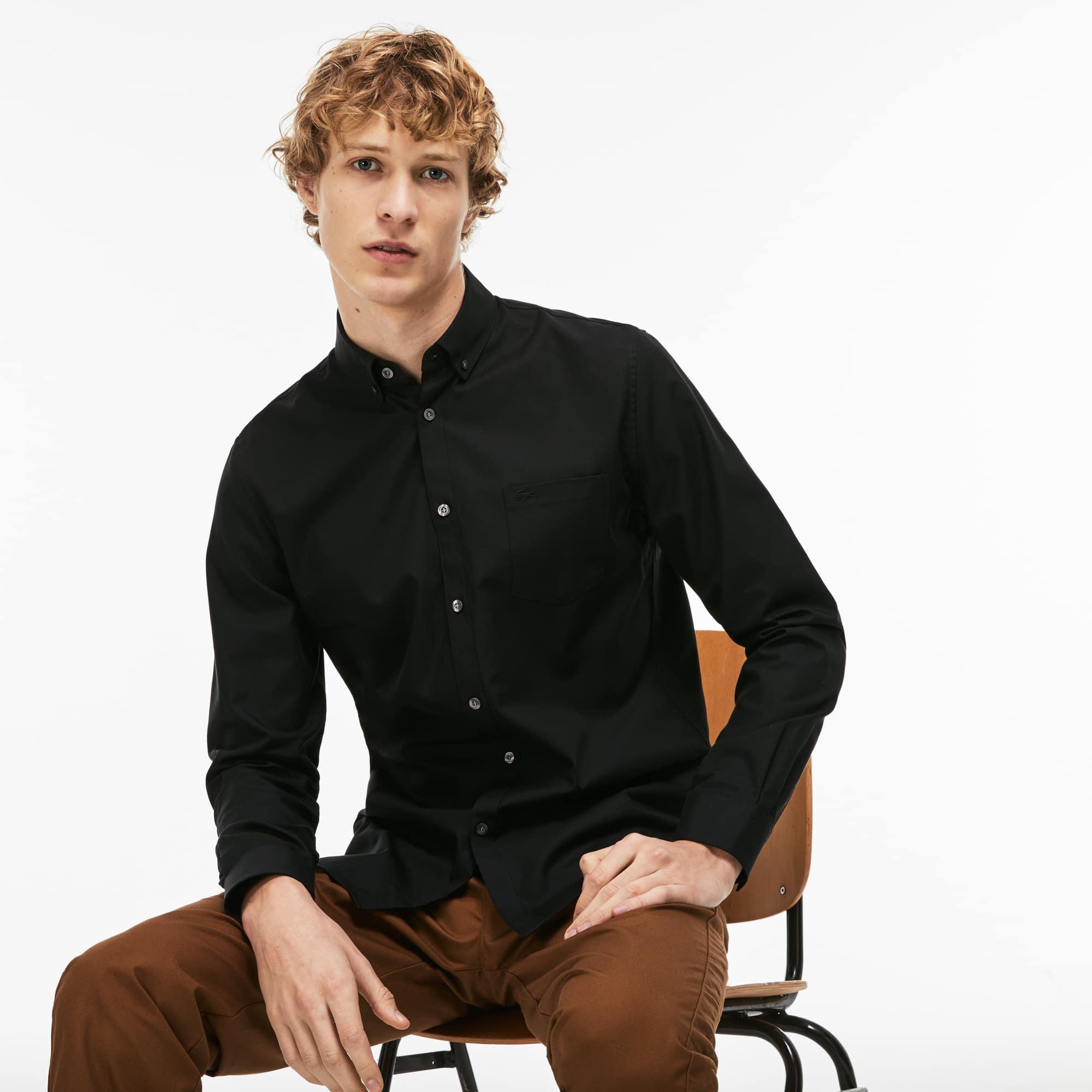 قميص رجالي بقصّة عاديّة من ميني بيكيه قطنيّ