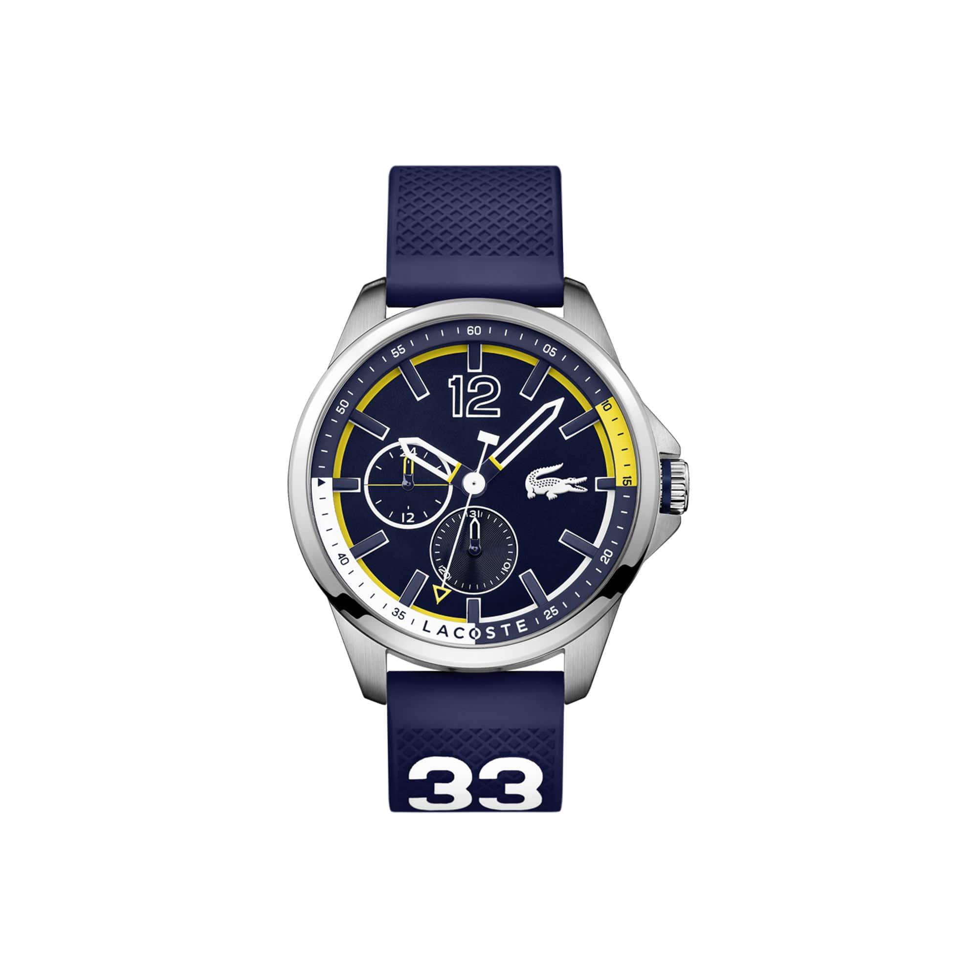 ساعة Capbreton رجالية مع حزام أزرق من السيليكون