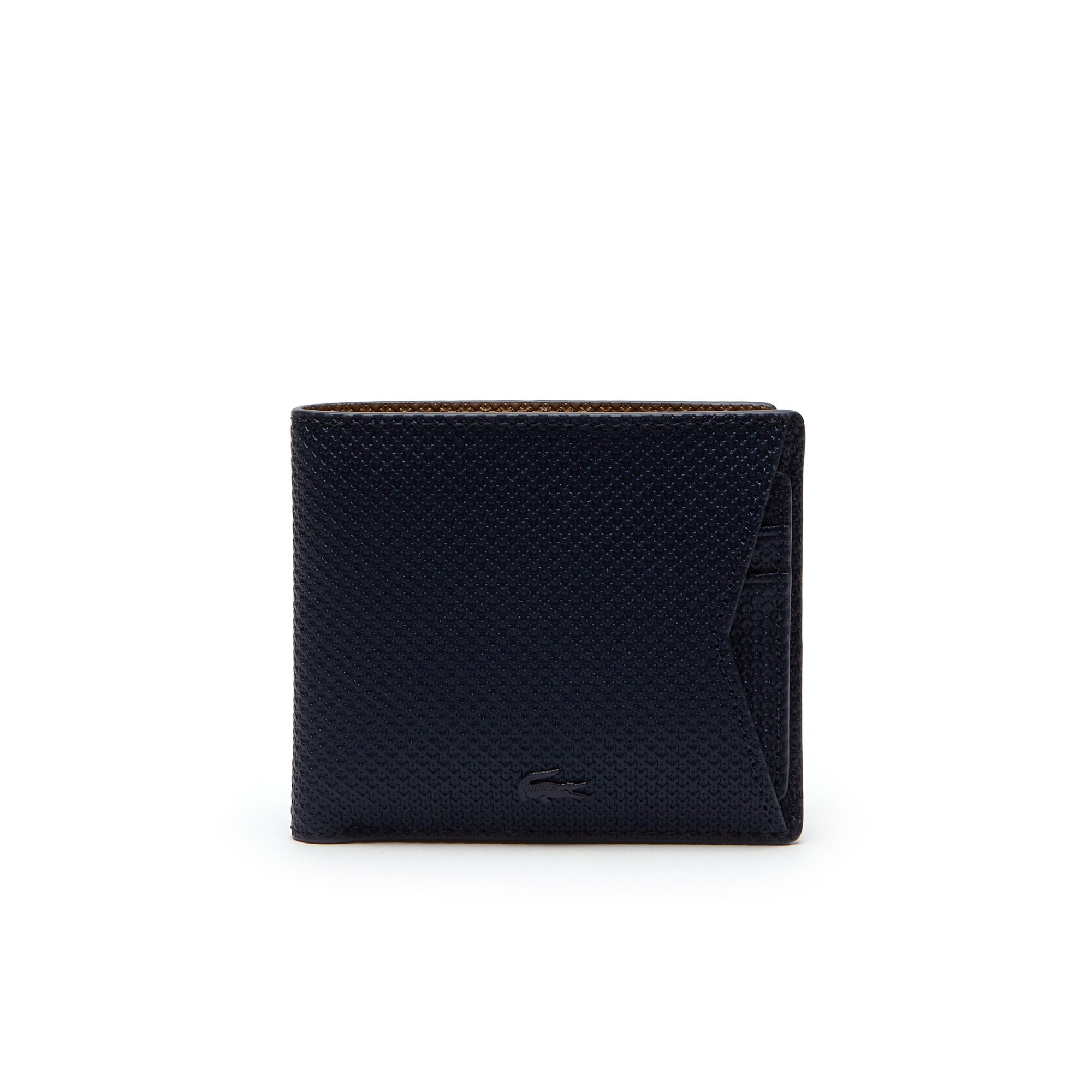 محفظة Chantaco للرجال من الجلد المثقوب أحادي اللون مزودة بحامل للبطاقات