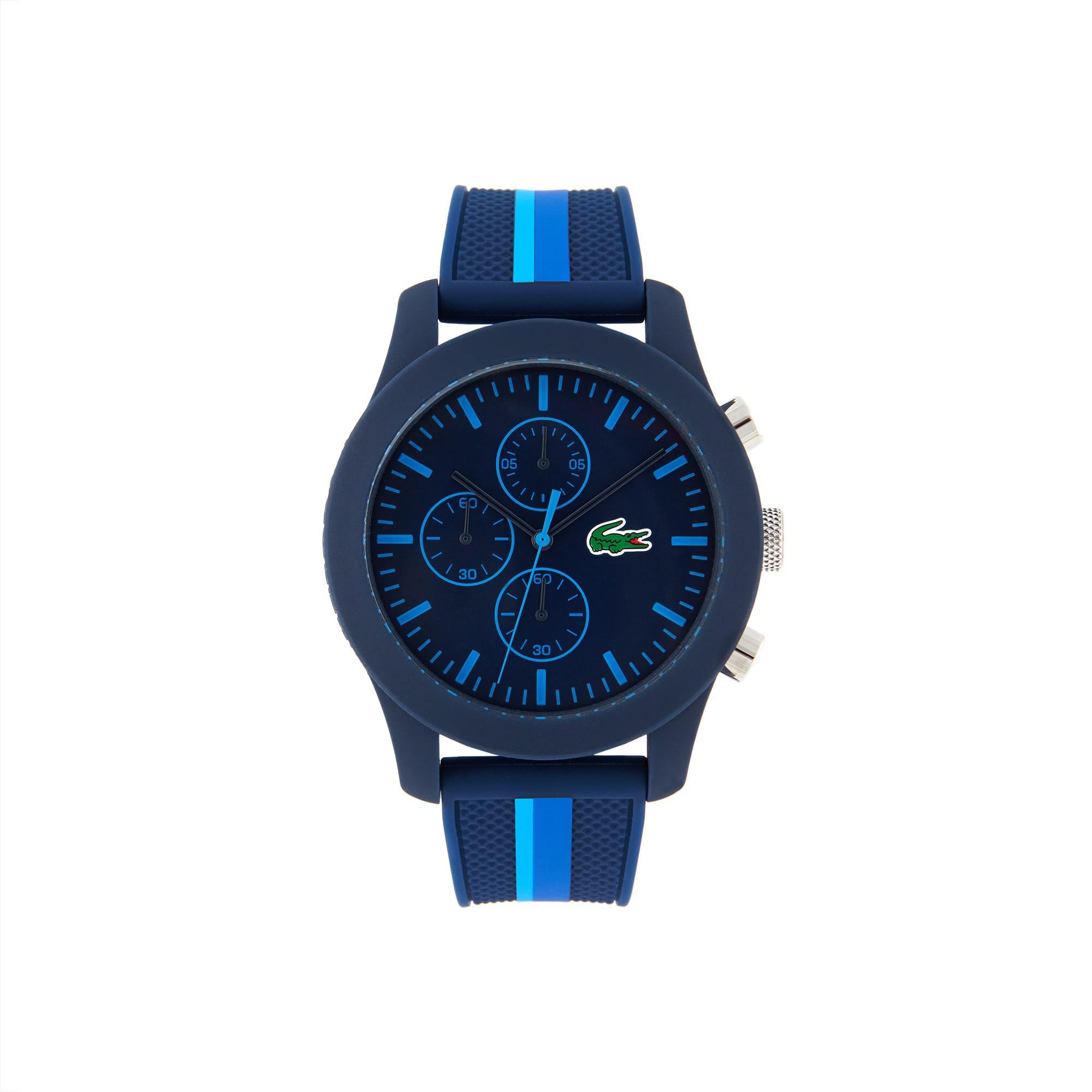 ساعة Lacoste L12.12 مع حزام أزرق من السيليكون