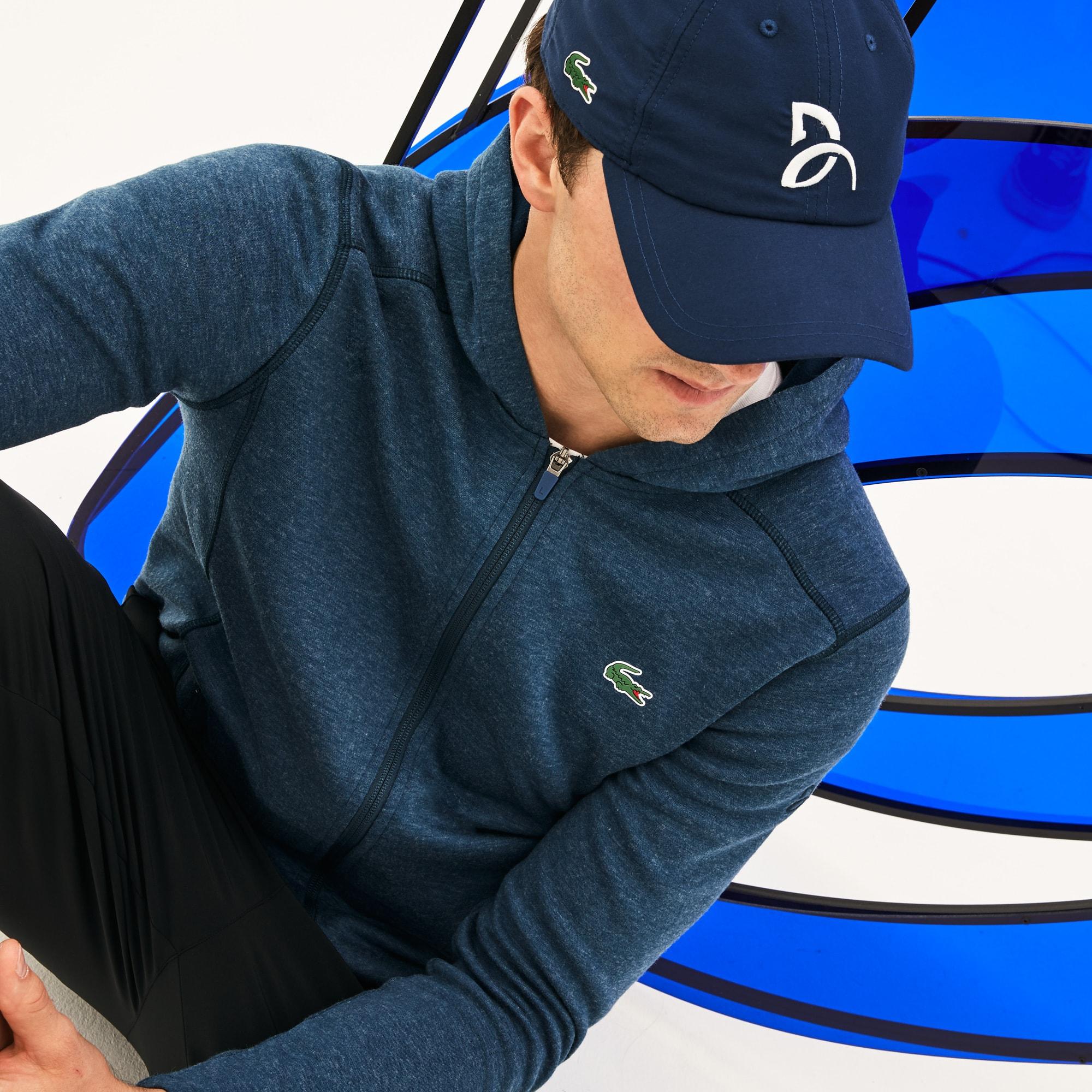 قبعة من نسيج ذي ألياف دقيقة من مجموعة Lacoste Sport Tennis للرجال - مجموعة Support With Style Collection for Novak Djokovic