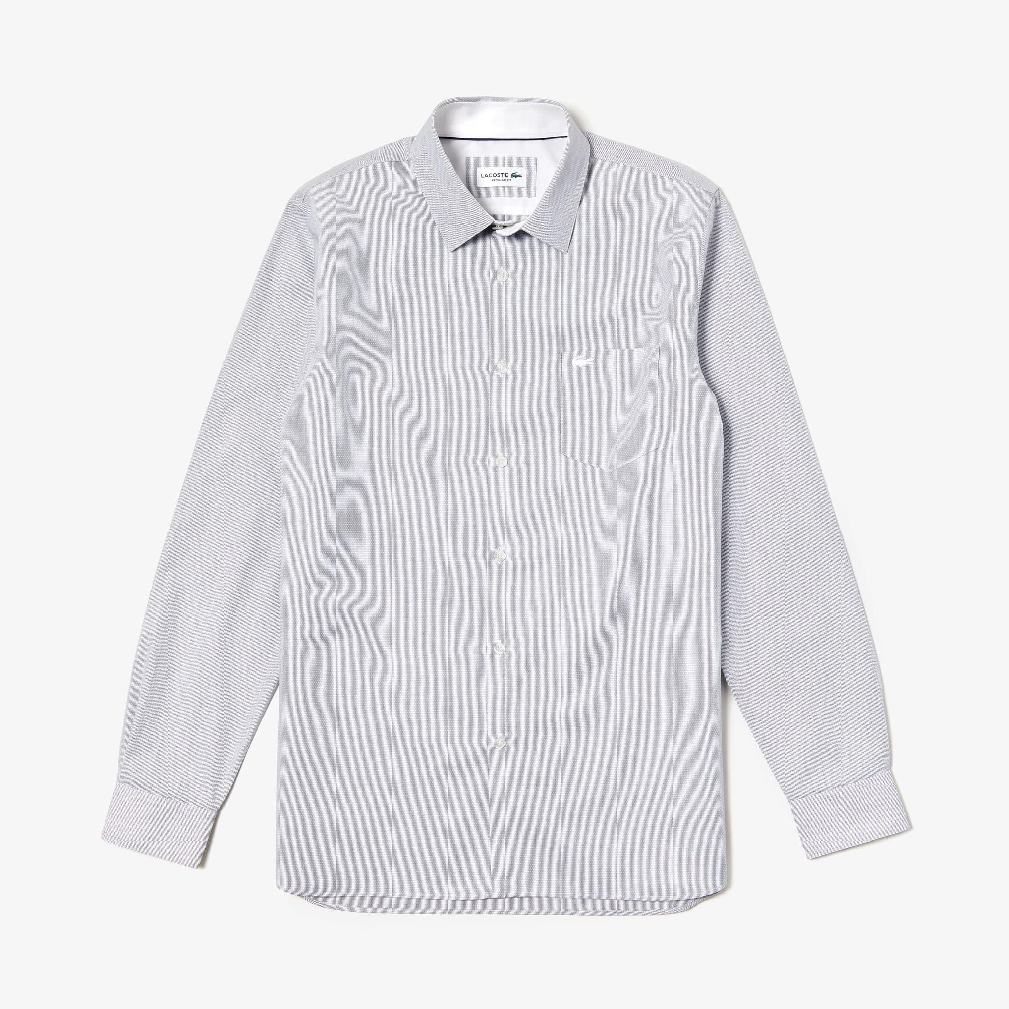 قميص للرجال ذو قصة عادية من قطن