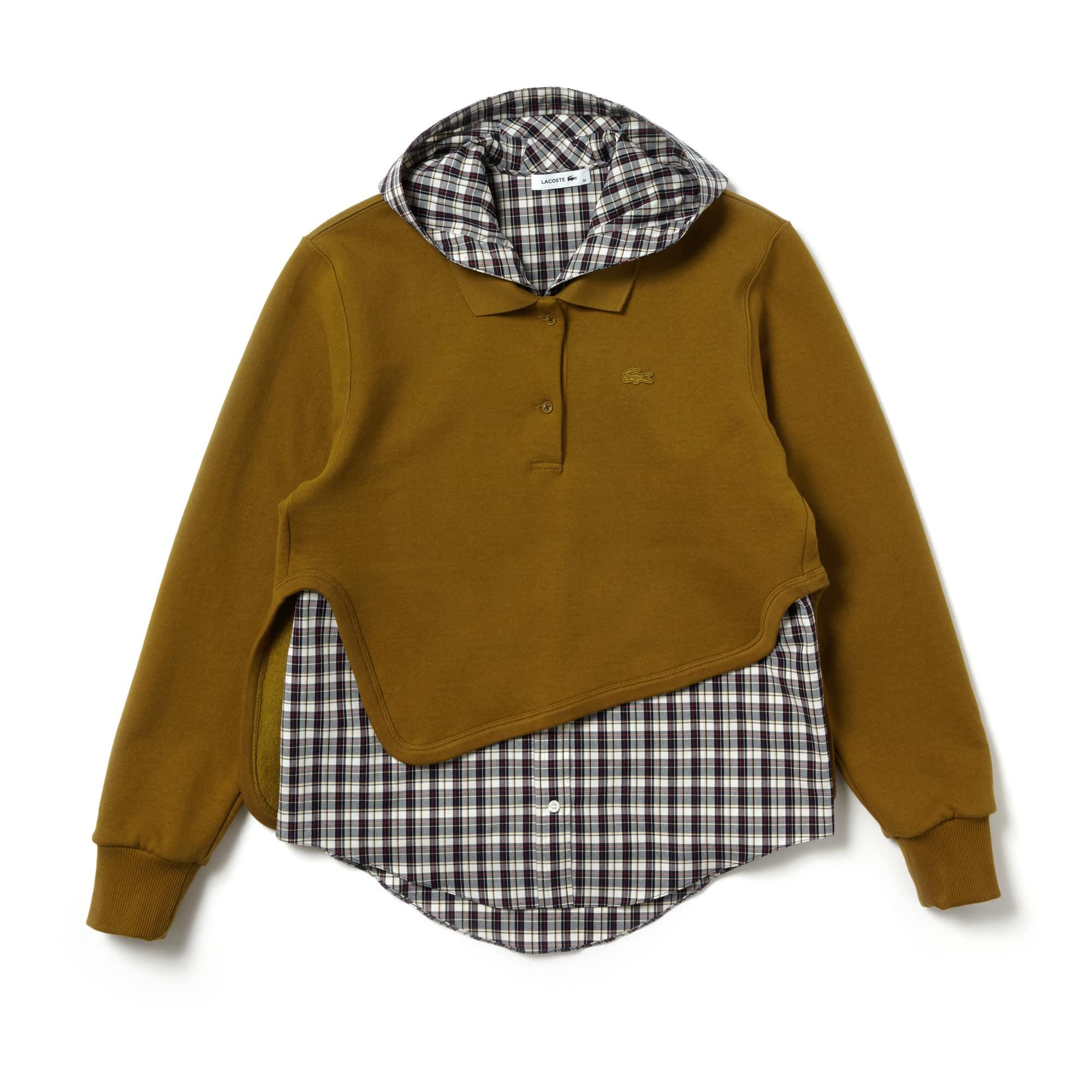 Women's Lacoste Fashion Show 2-in-1 Fleece And Check Poplin Polo