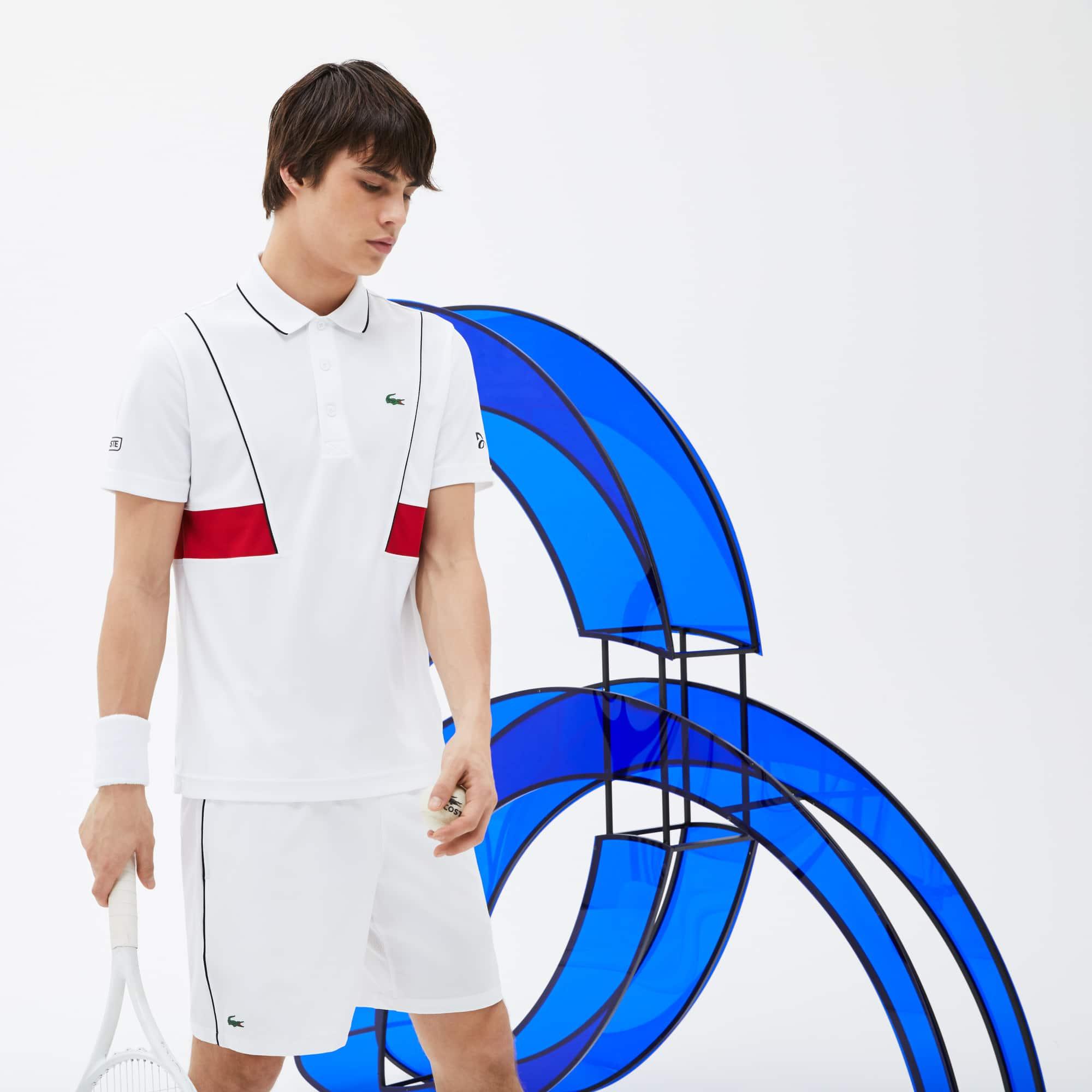 قميص بولو رجالي من مجموعة نوفاك ديوكوفيتش التي تقدمها لاكوست سبورت بخامة بيكيه