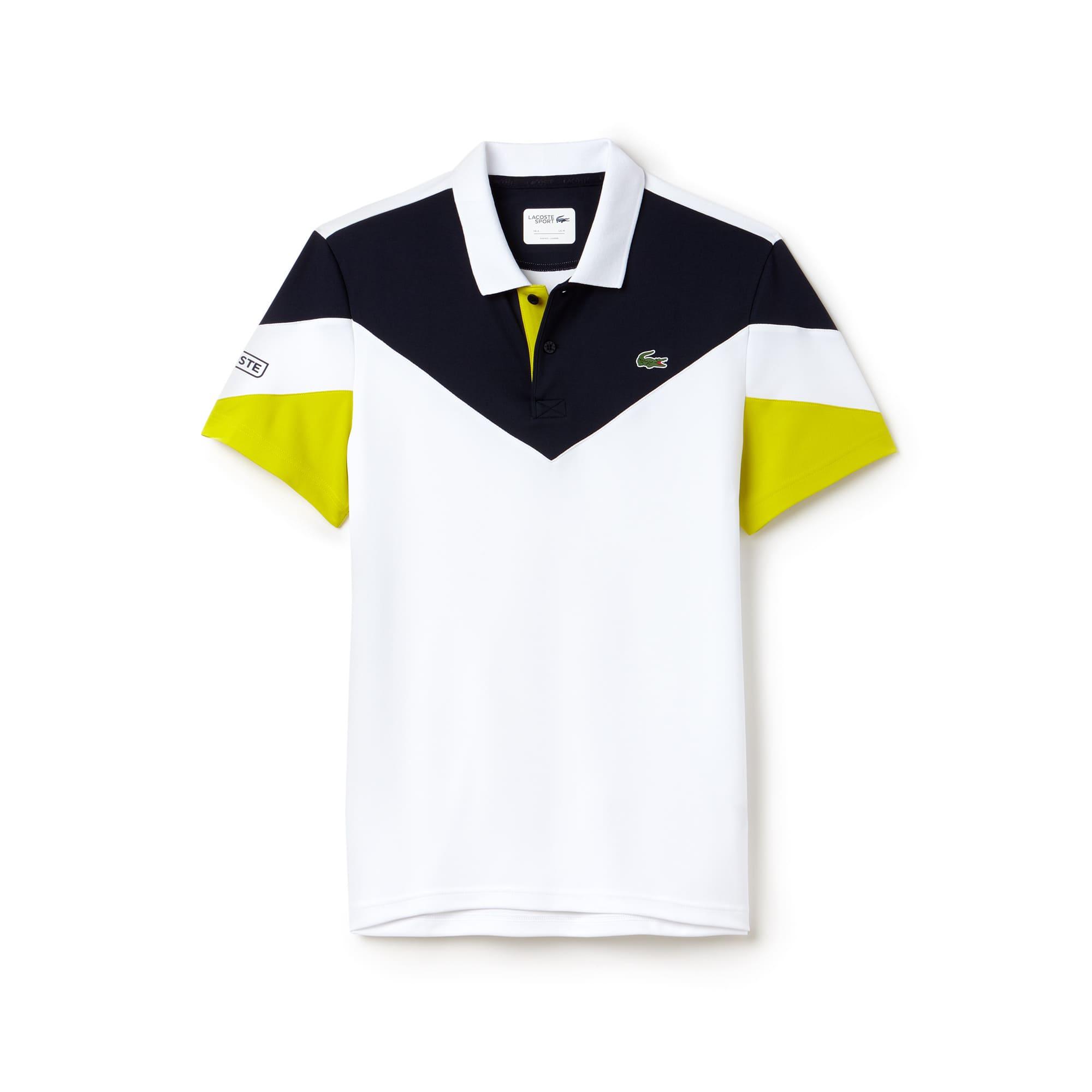 قميص تنس بولو من قماش البيكيه العملي رياضي بلون موحد