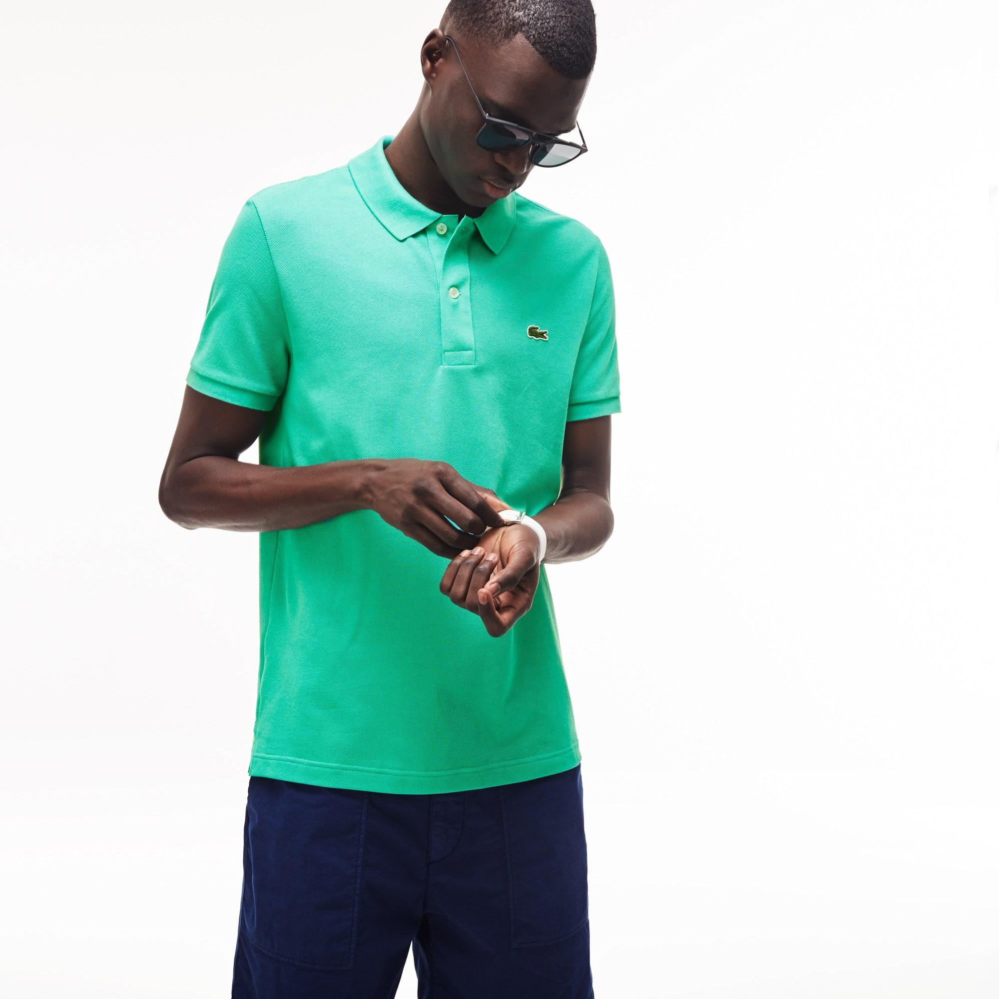ea81f4eed Men s Slim fit Lacoste Polo Shirt in petit piqué