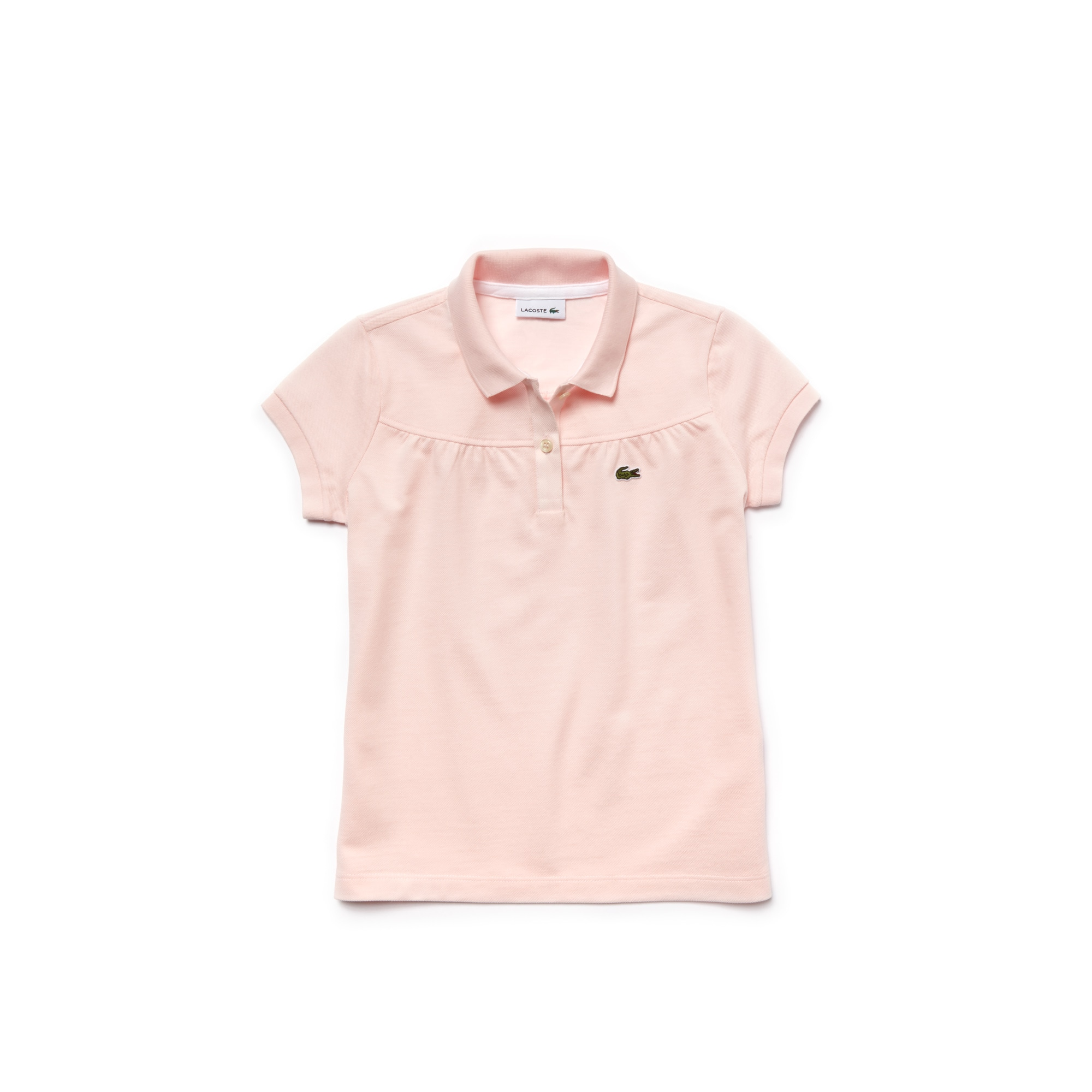 Kids Lacoste Polo Shirt in gathered mini piqué