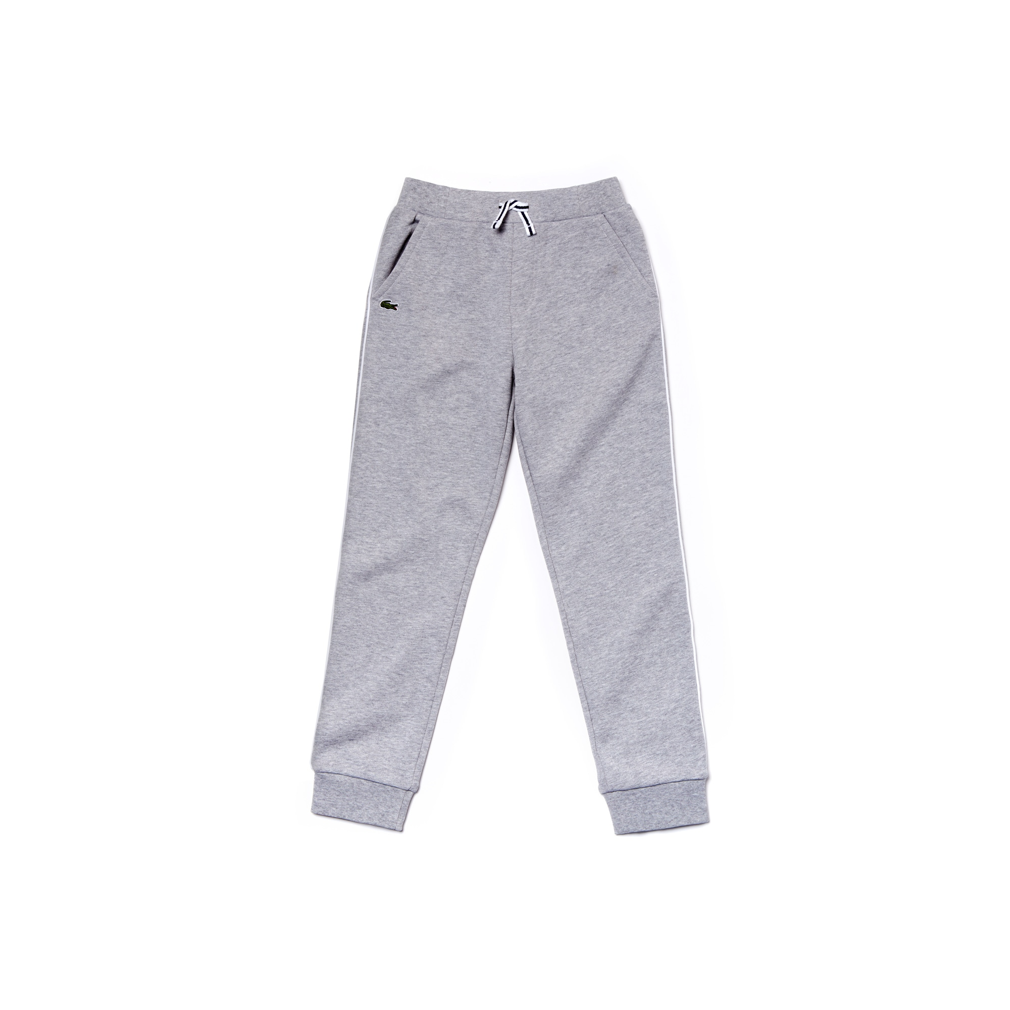 Boys Contrast Bands Fleece Jogging Pants Lacoste