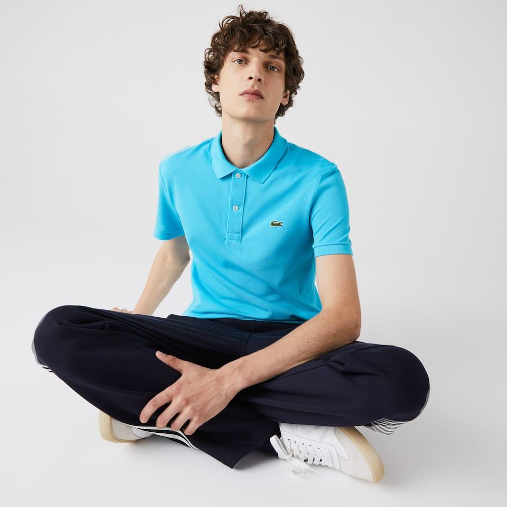 d7b8162f2faacd Men s Slim fit Lacoste Polo Shirt in petit piqué