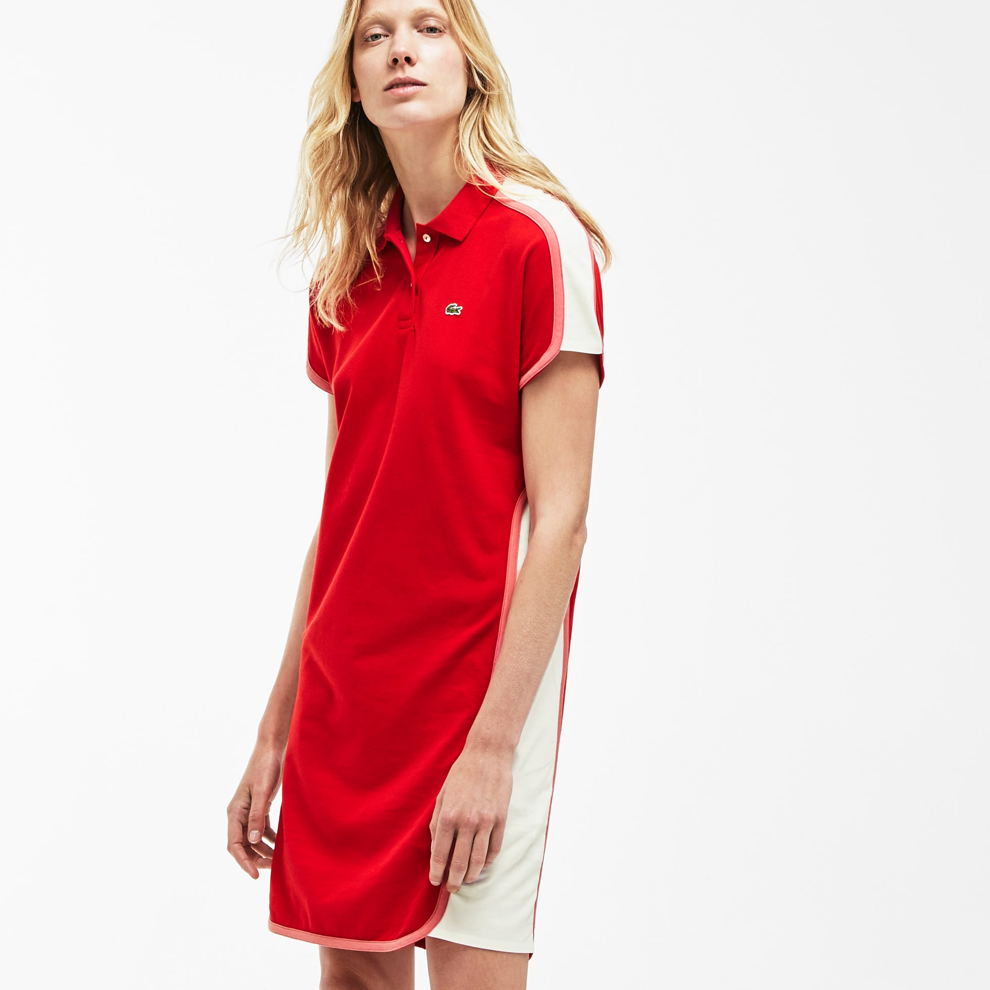 8941a5fd Women's Made in France Colorblock Piqué Polo Dress