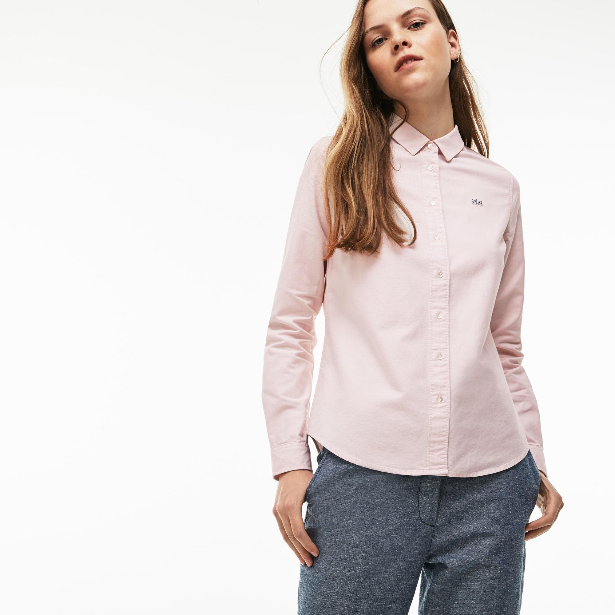 eba92dfa56 Women's Lacoste LIVE Slim Fit Oxford Cotton Shirt