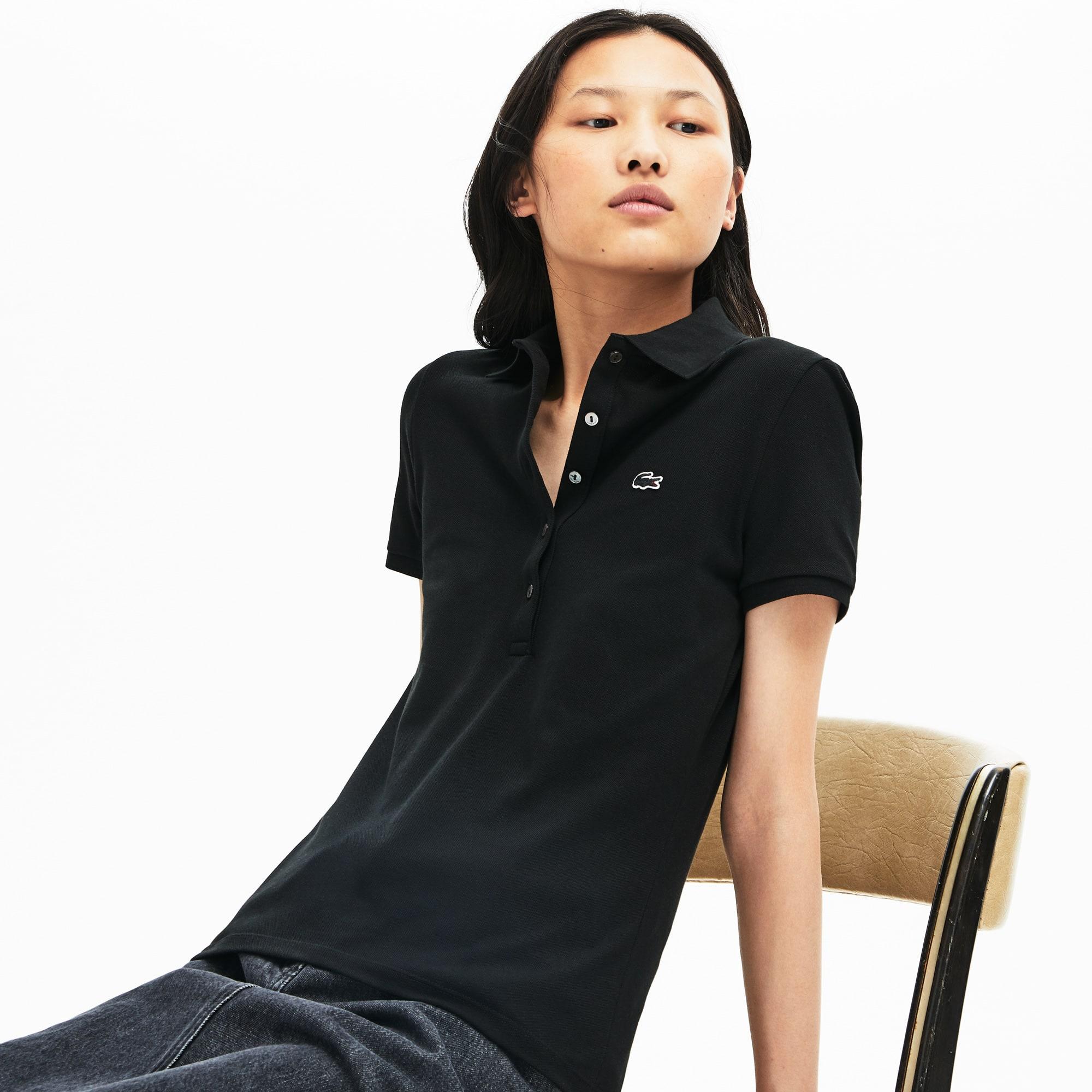 34a82e0d Women's Lacoste Slim Fit Stretch Mini Cotton Piqué Polo Shirt