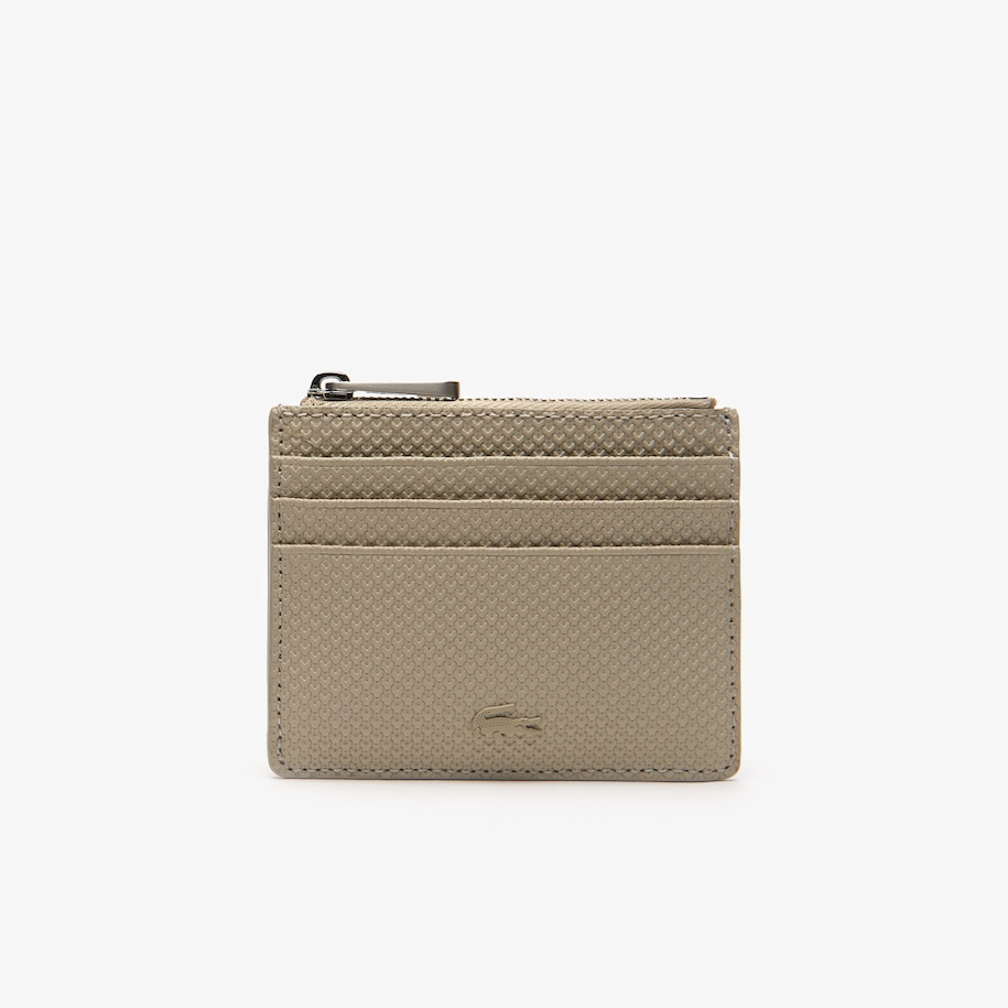 Men's Chantaco Matte Piqué Leather Zip 6 Card Holder