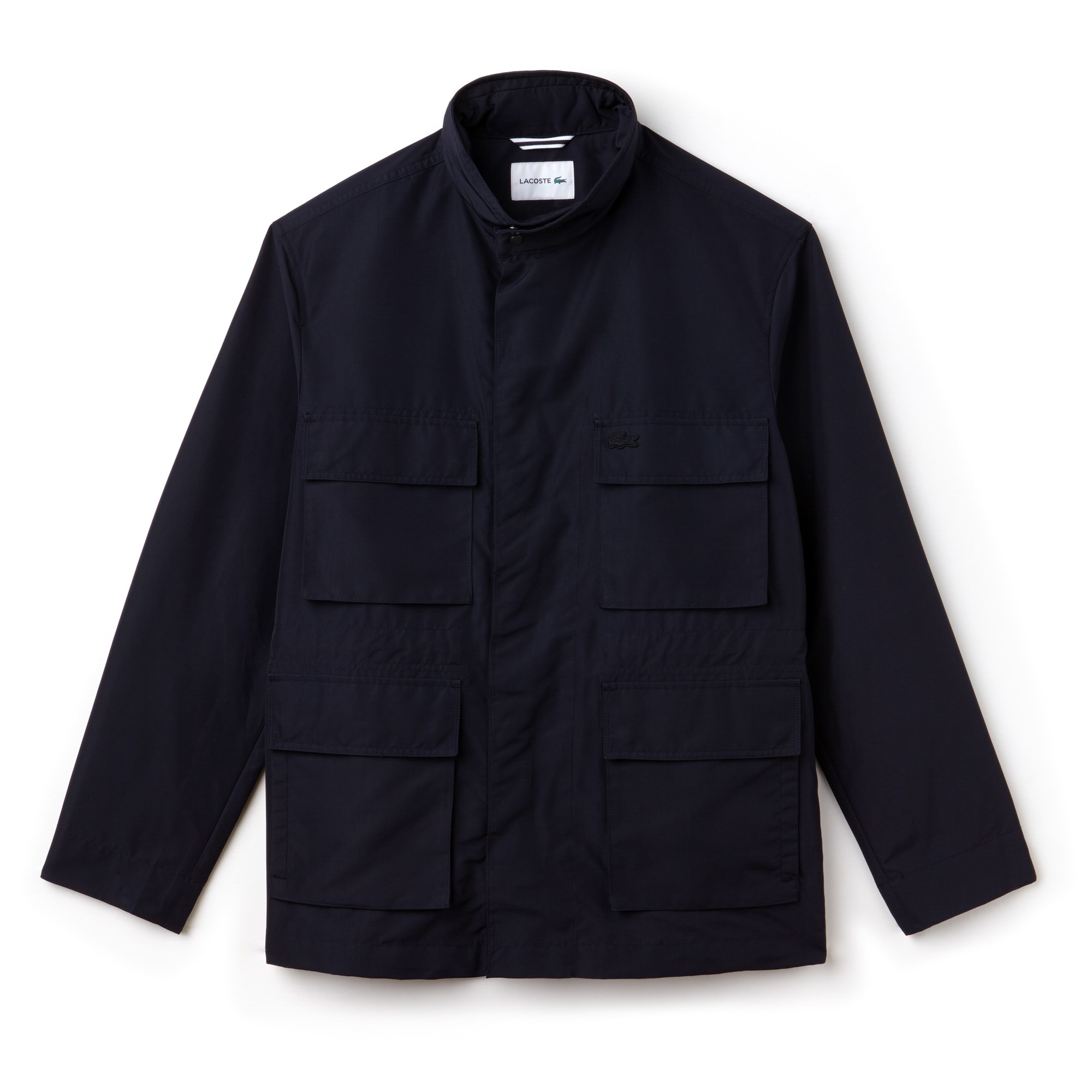 Men's Stand Up Collar Invisible Fastening Taffeta Jacket