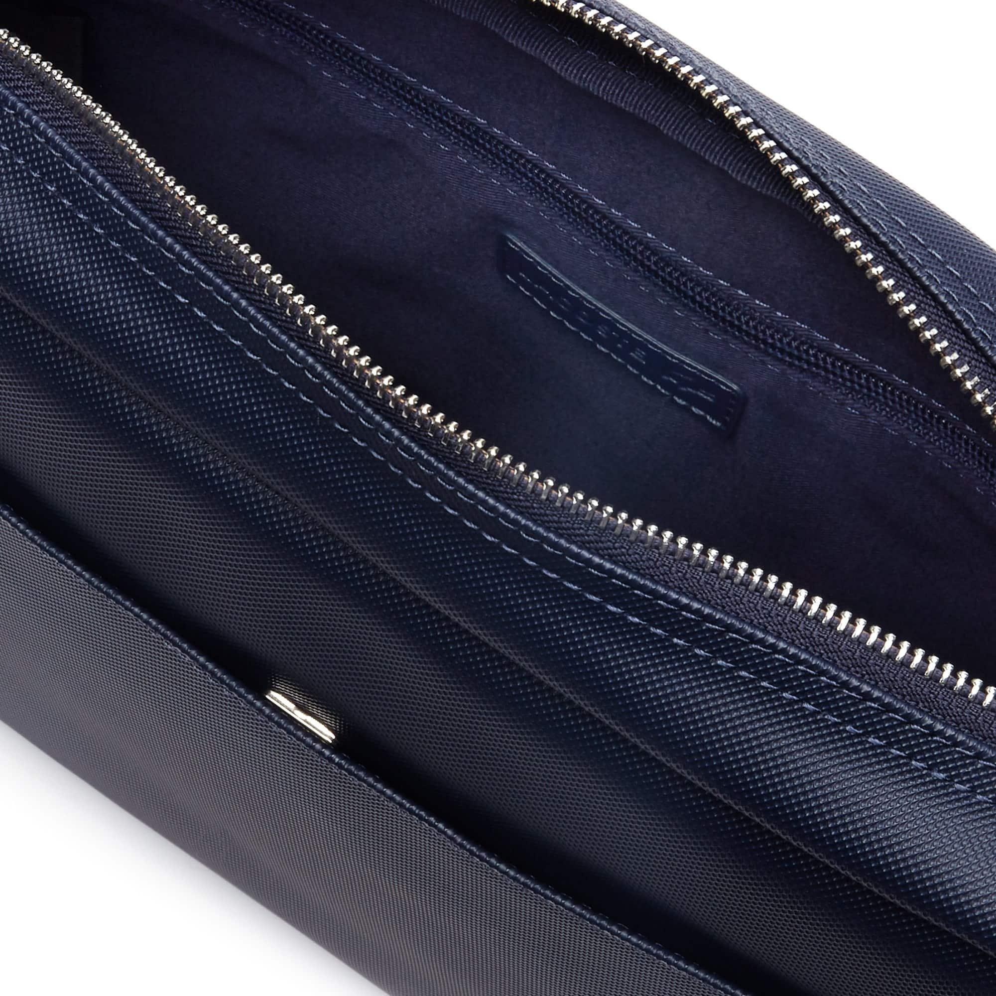 Black Neocroc Unicolour Zip Airline Bag. Lacoste ... c194ecb7ff967