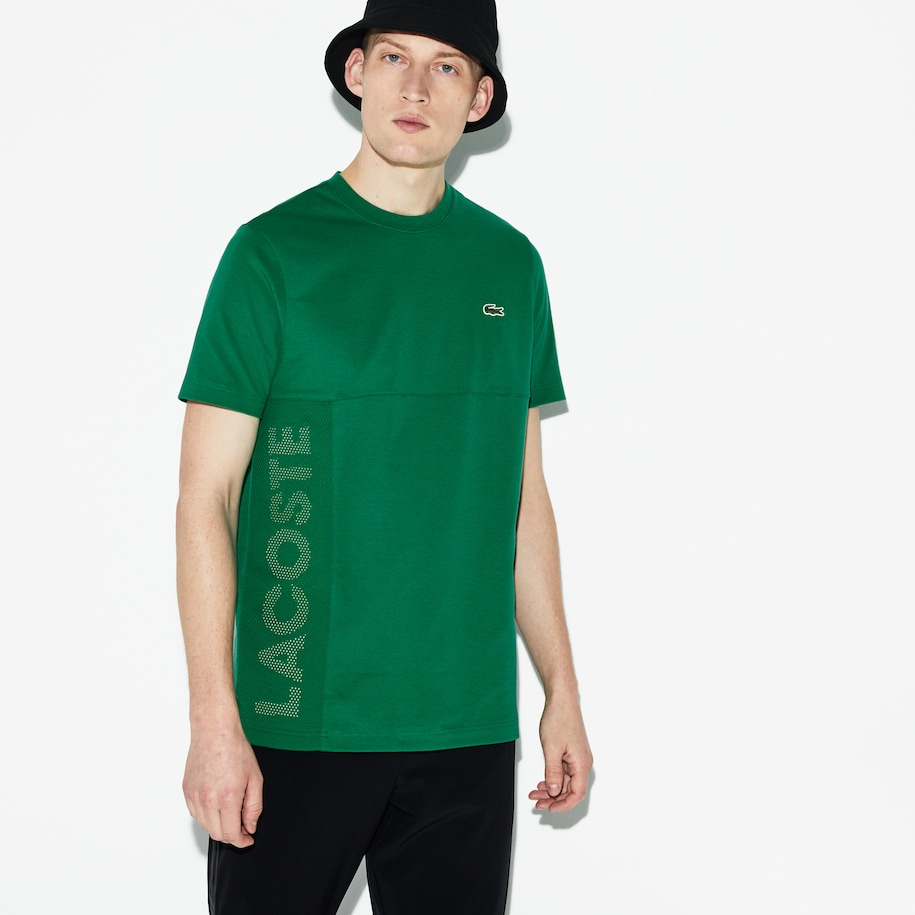 Men's Lacoste SPORT Crew Neck Lettered Ultra Light Cotton T-shirt