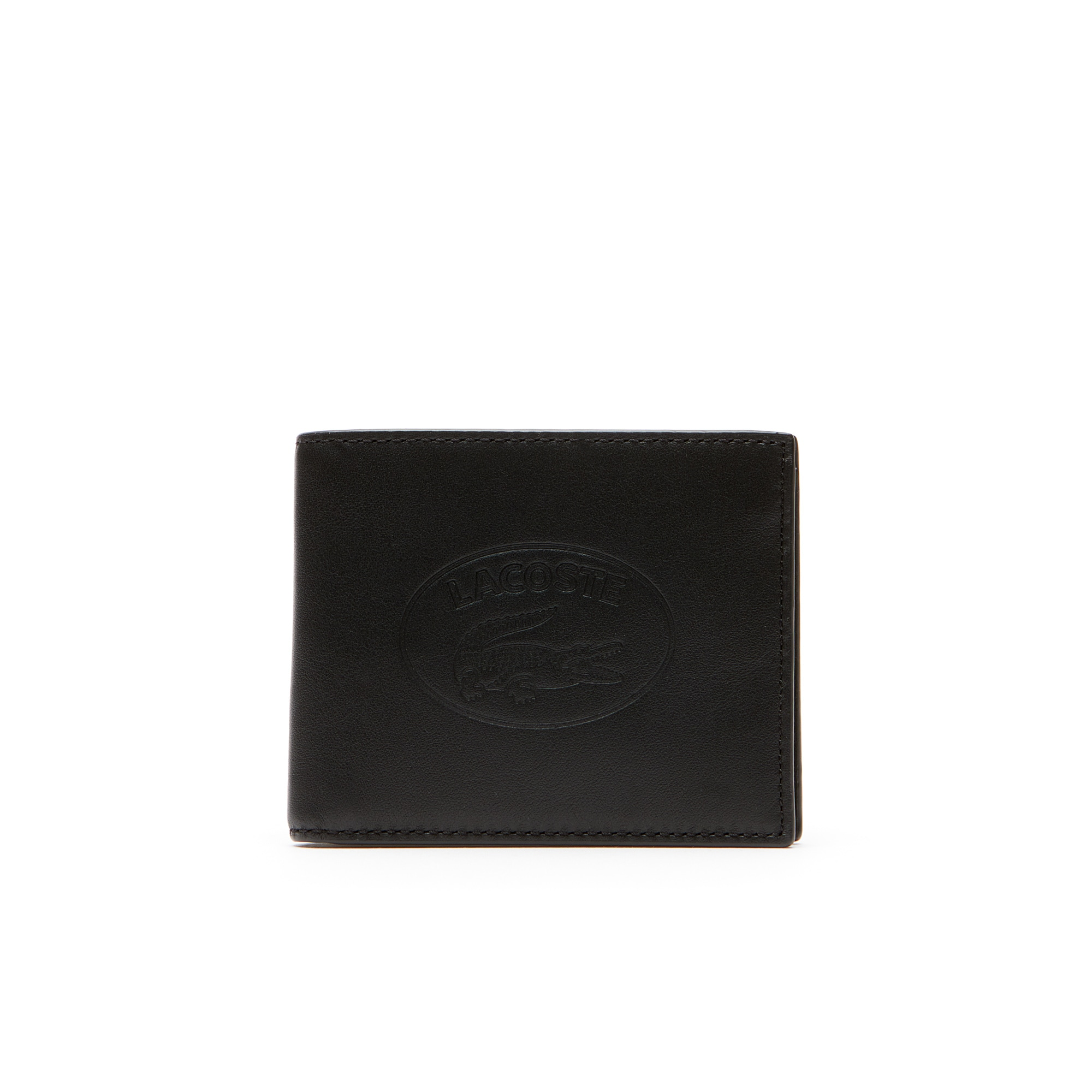 Men's L.12.12 Casual Embossed Lettering Leather 6 Card Wallet