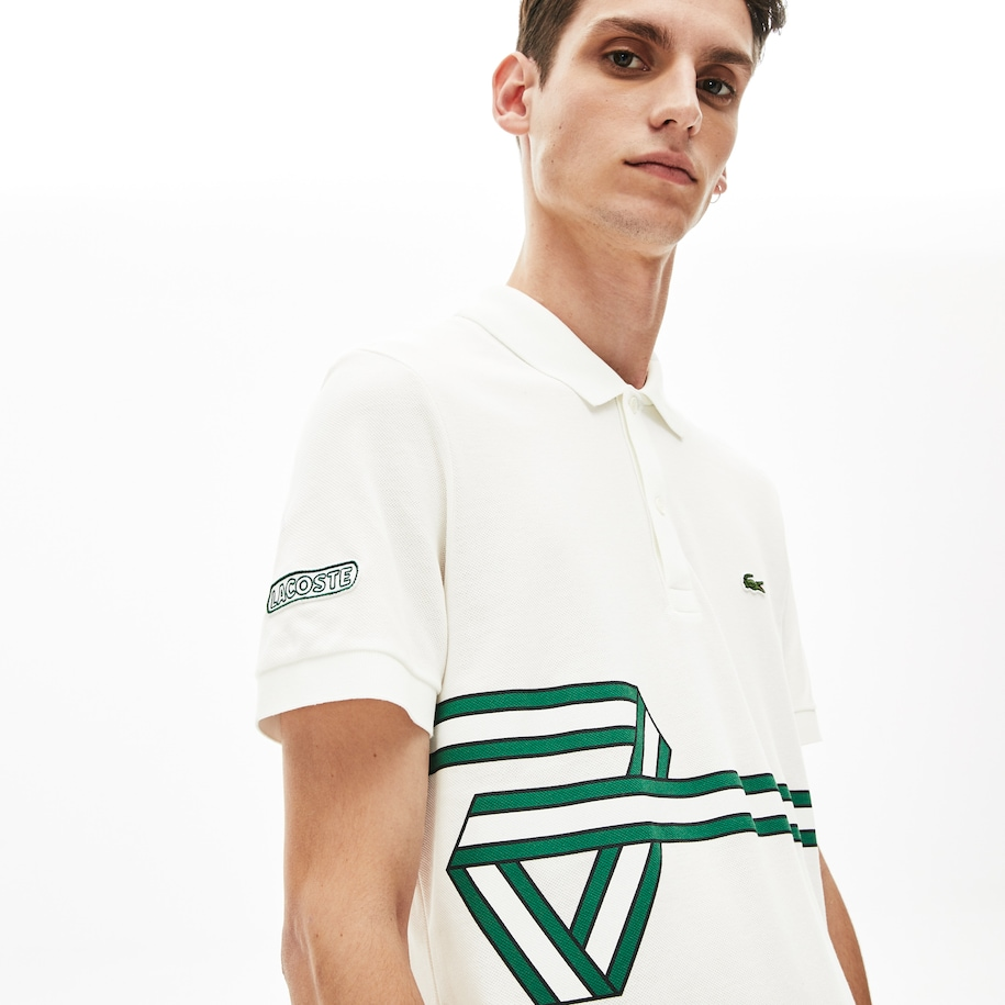 Men's Lacoste Stripe Print Polo Shirt