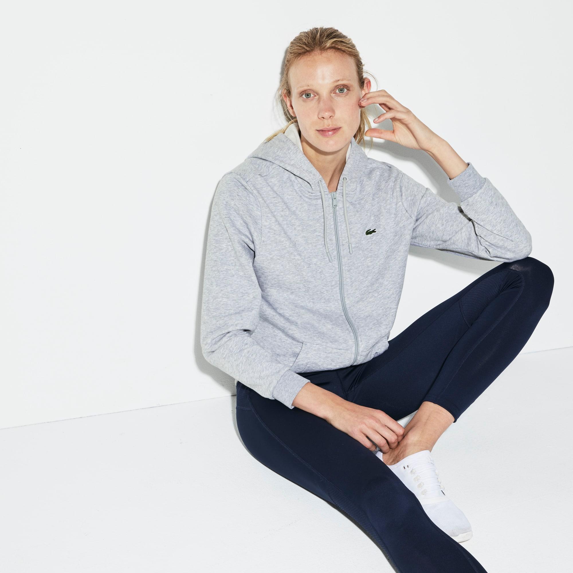 Women's Lacoste SPORT Tennis Hooded Zippered Fleece Sweatshirt