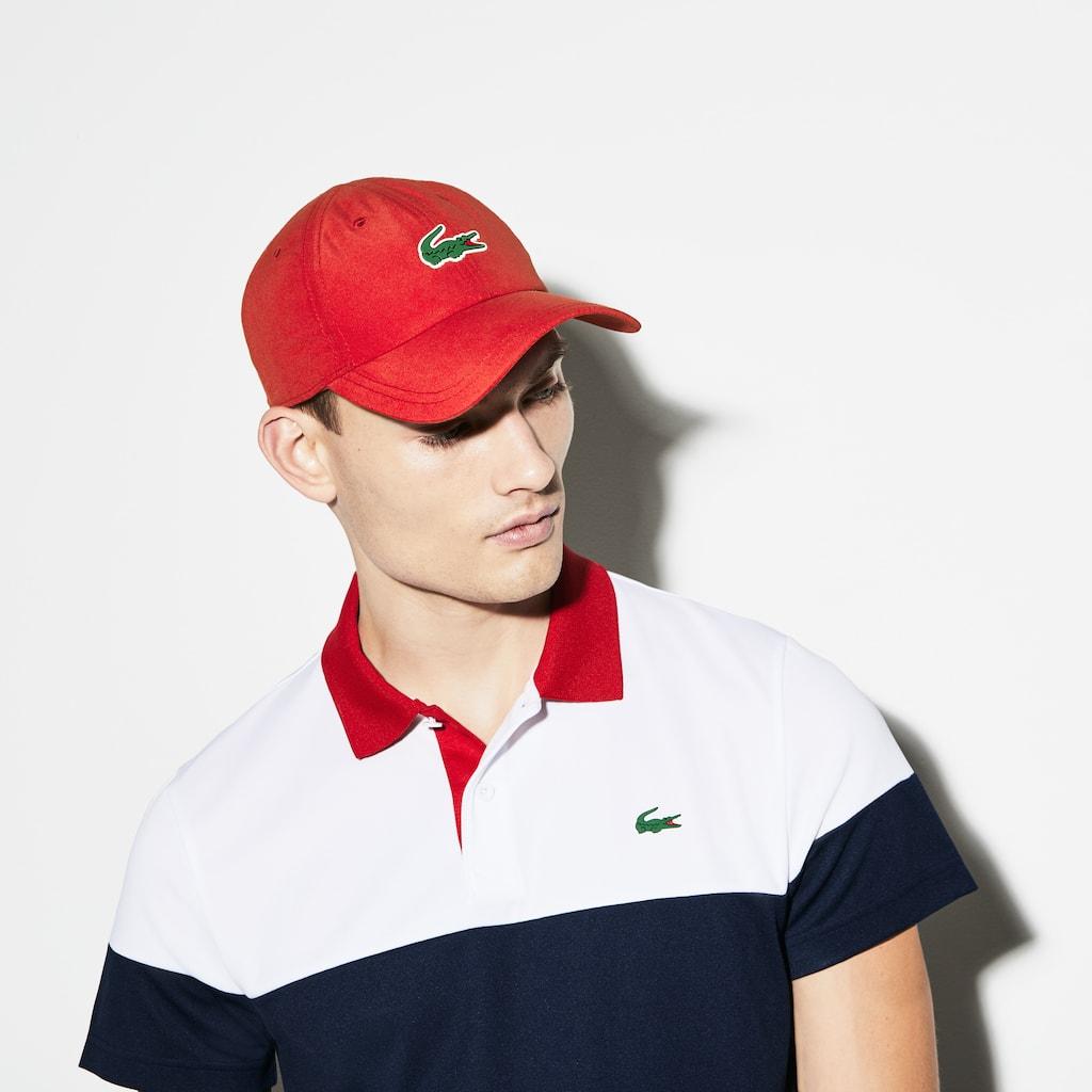 14e644f0558fa6 Men s Lacoste SPORT Tennis Microfiber Crocodile Cap