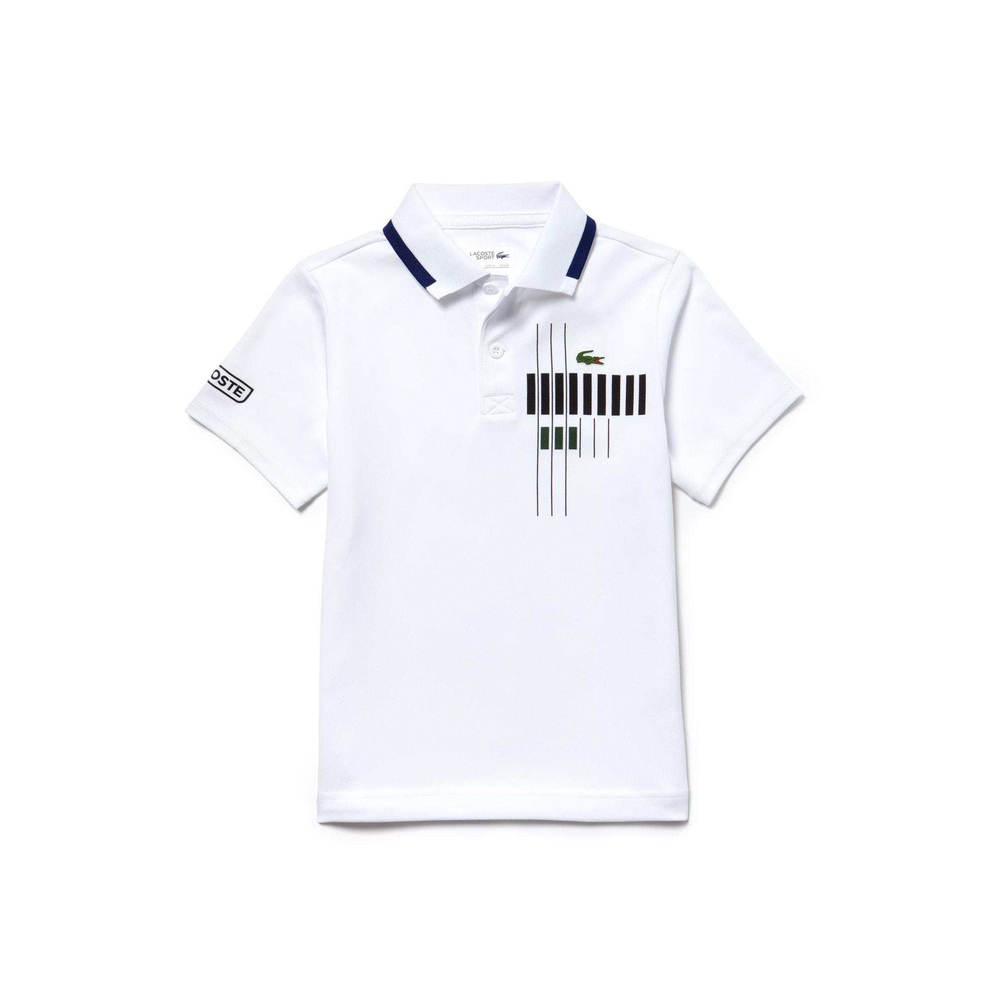 Boys' Lacoste SPORT Tennis Brand Design Technical Piqué Polo Shirt