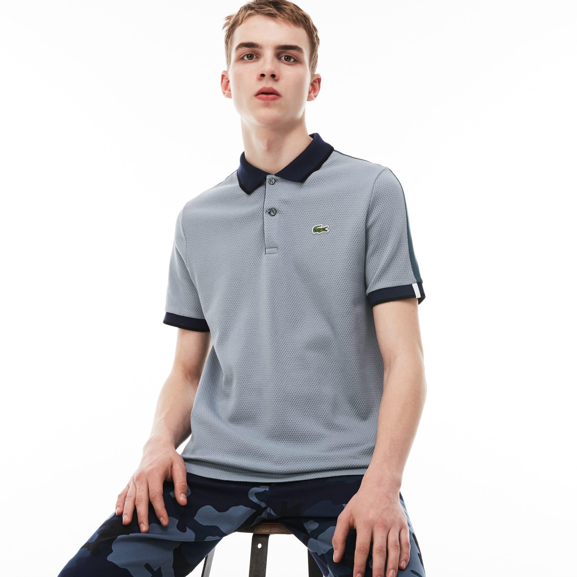 Men's Lacoste LIVE Slim Fit Colorblock Cotton Knit Polo Shirt